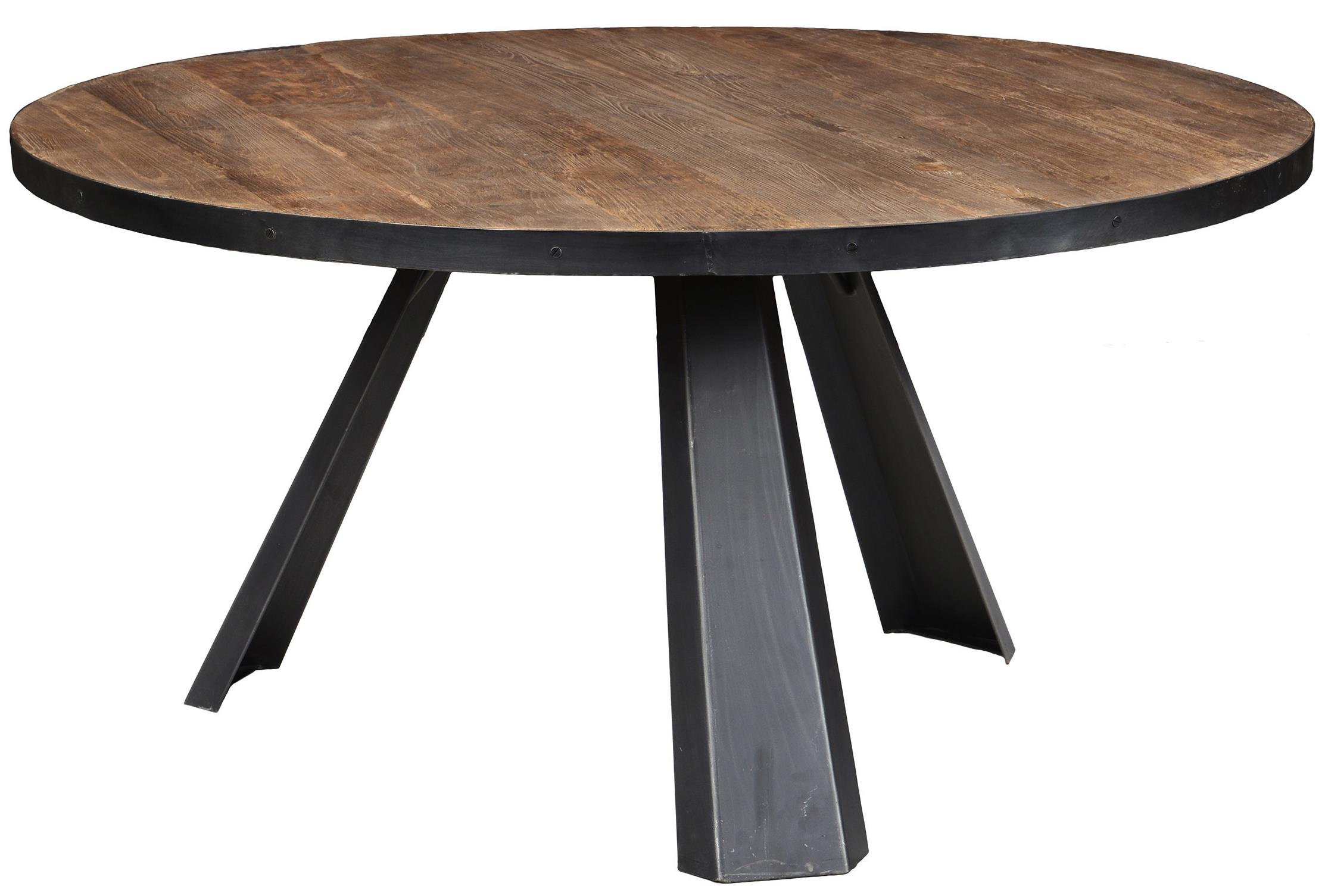 Classic Home Erikson Round Dining Table With Iron Splayed
