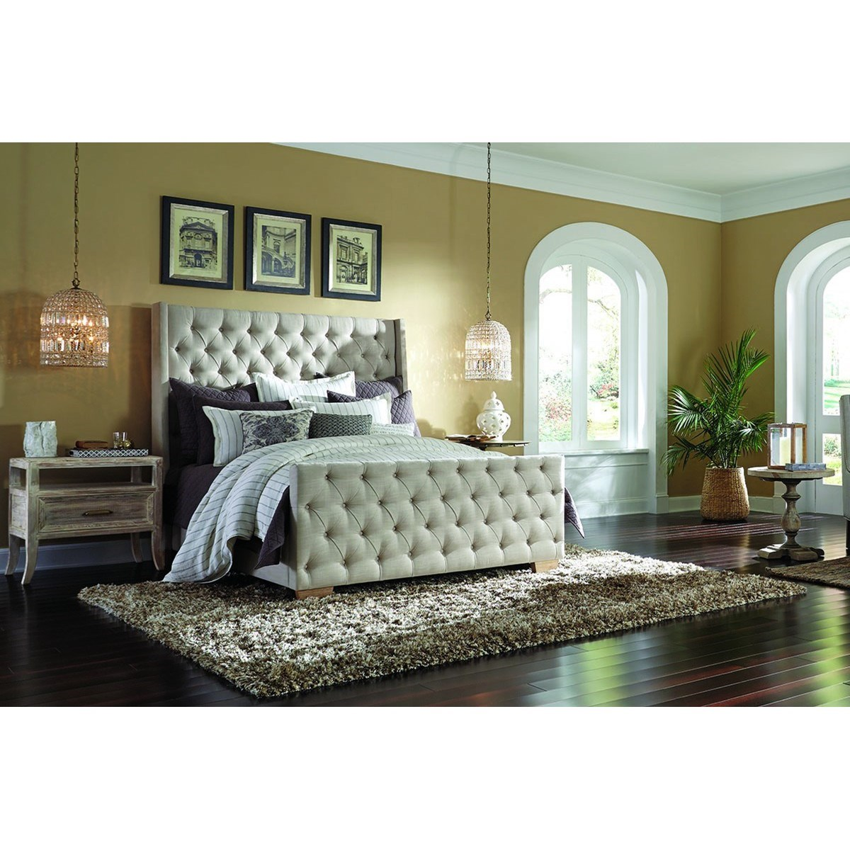Classic home laurent transitional rubberwood king size for Classic home furniture jacksonville fl