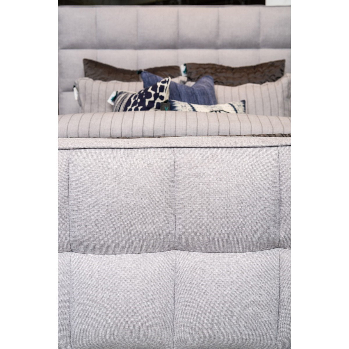 Classic home loft eastern queen panel bed with fabric for Classic home furniture jacksonville fl