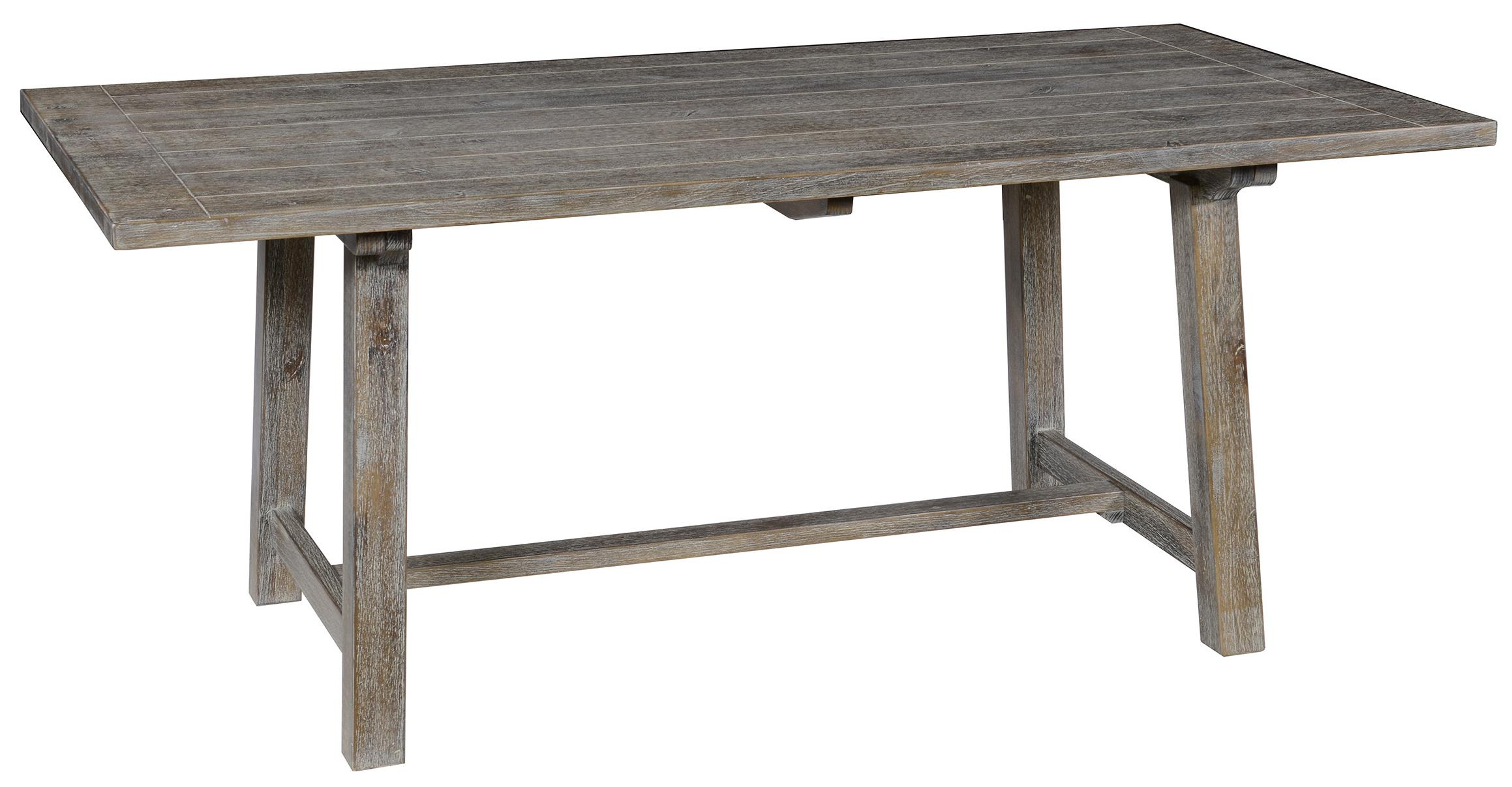 Classic home maxwell pine dining table with trestle base for Classic home furniture jacksonville fl