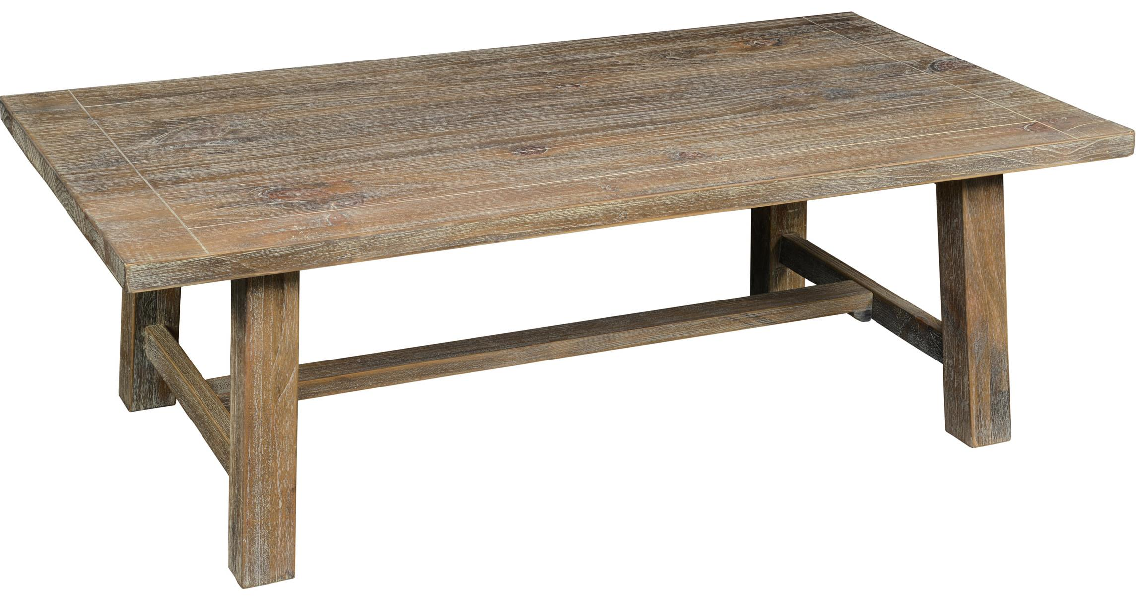 Classic home maxwell pine coffee table with trestle base for Classic home furniture jacksonville fl