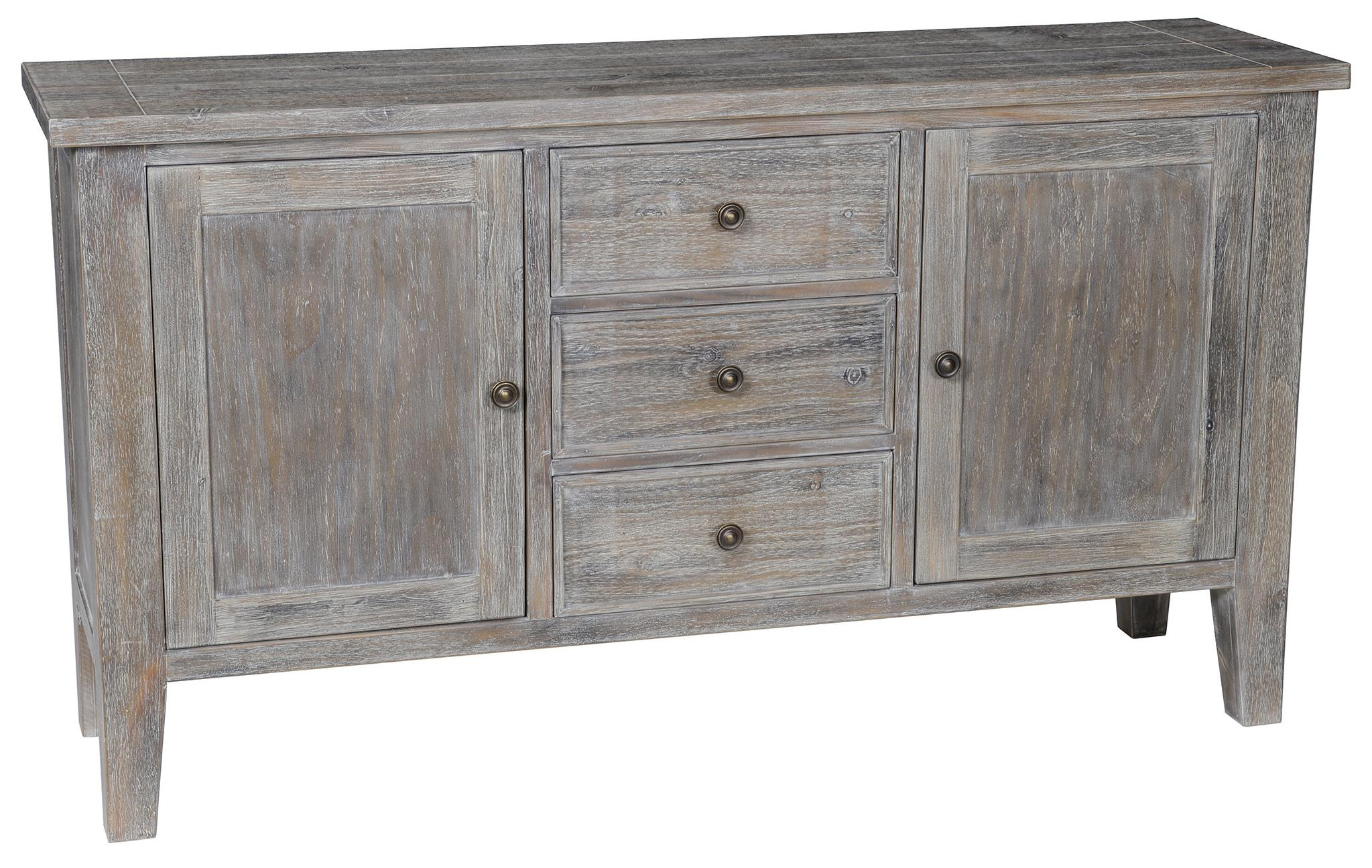 Classic home maxwell side board with 3 drawers and 2 doors for Classic home furniture jacksonville fl