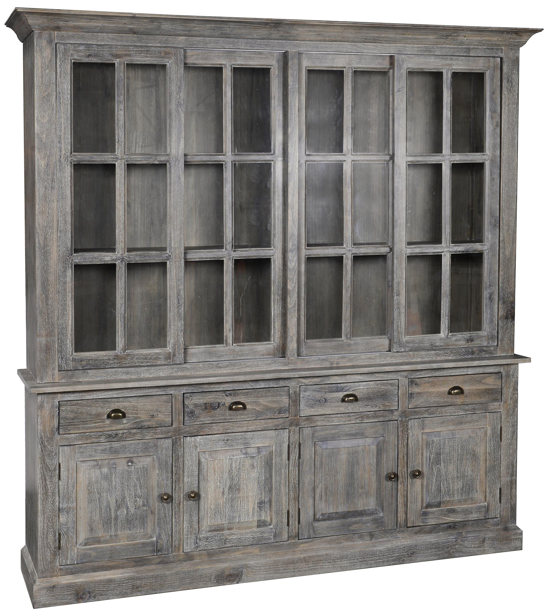 Classic Home Maxwell 4 Drawer Sliding Door China Cabinet Jacksonville Furniture Mart China