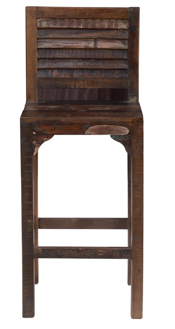 Classic home odessa bar stool with shutter styled slats for Classic home furniture jacksonville fl