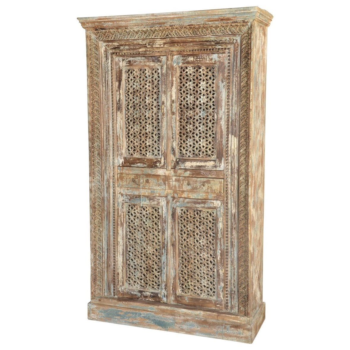 Classic Home Some Of A Kinds 2 Drawer Carved Almirah Jacksonville Furniture Mart Armoires