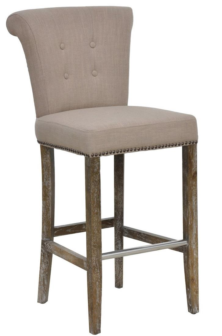 Classic home vincente traditionally styled tan bar stool for Classic furniture products vadodara