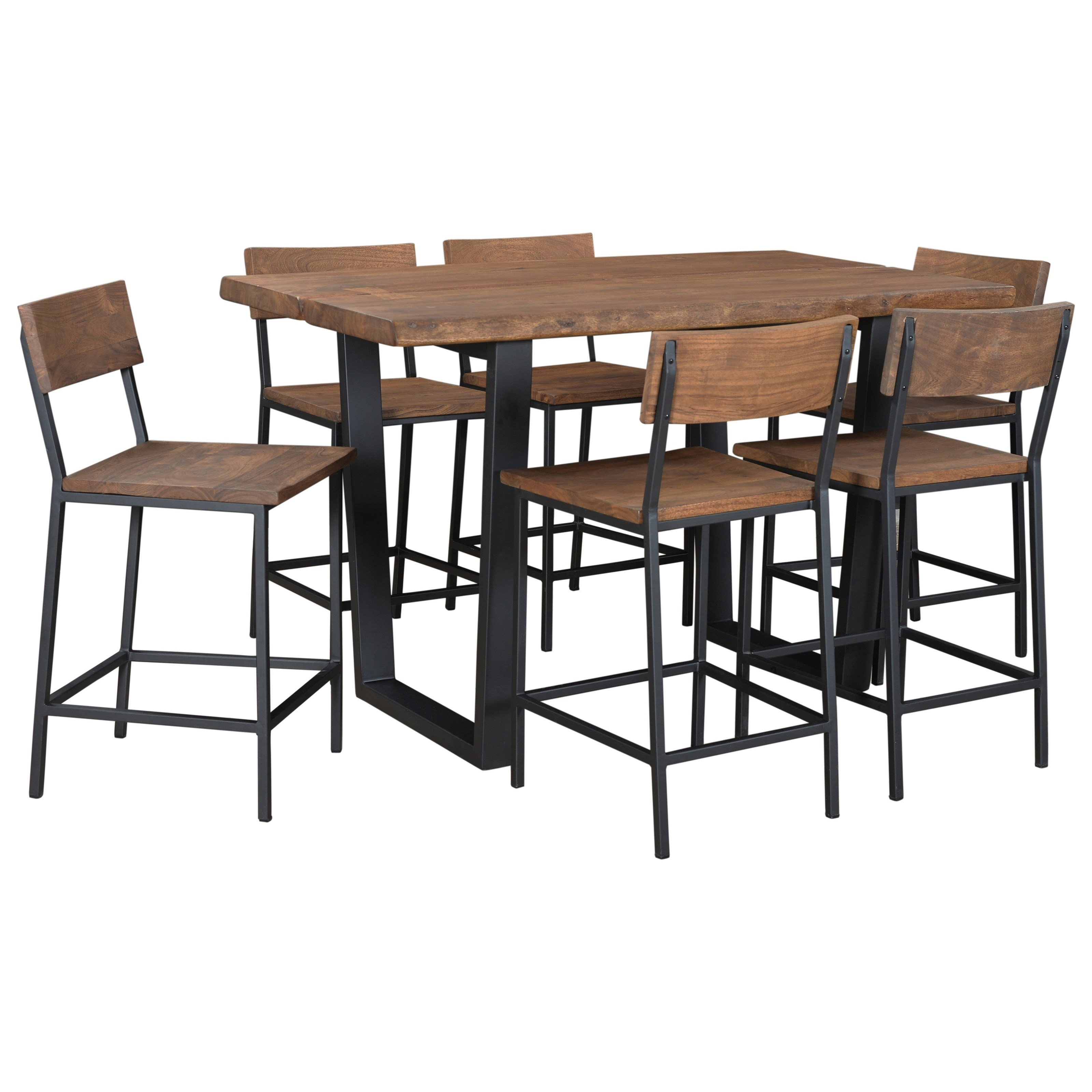 coast to coast imports sequoia counter height dining table olinde 39 s furniture dining tables. Black Bedroom Furniture Sets. Home Design Ideas
