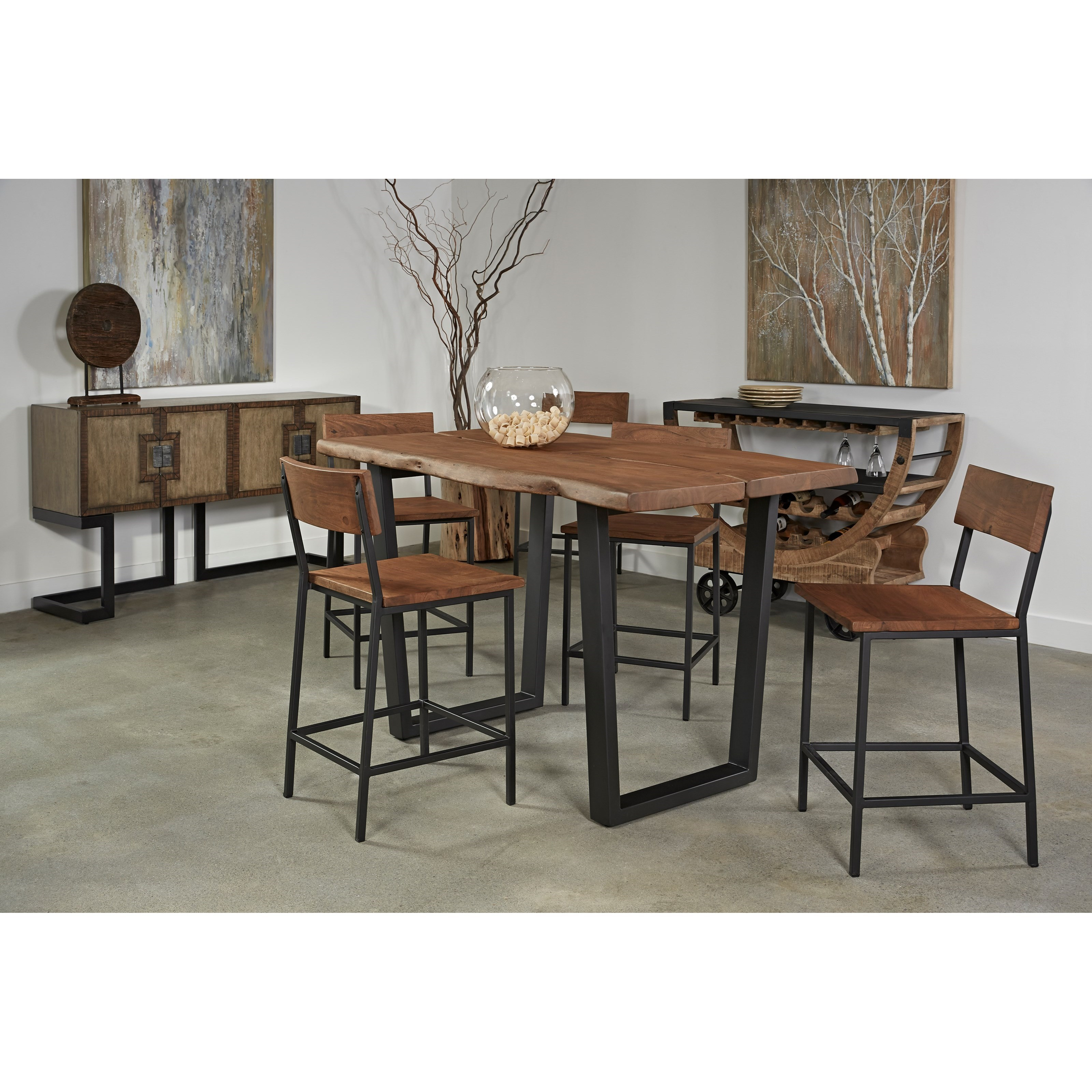coast to coast imports sequoia counter height dining table zak 39 s fine furniture dining tables. Black Bedroom Furniture Sets. Home Design Ideas