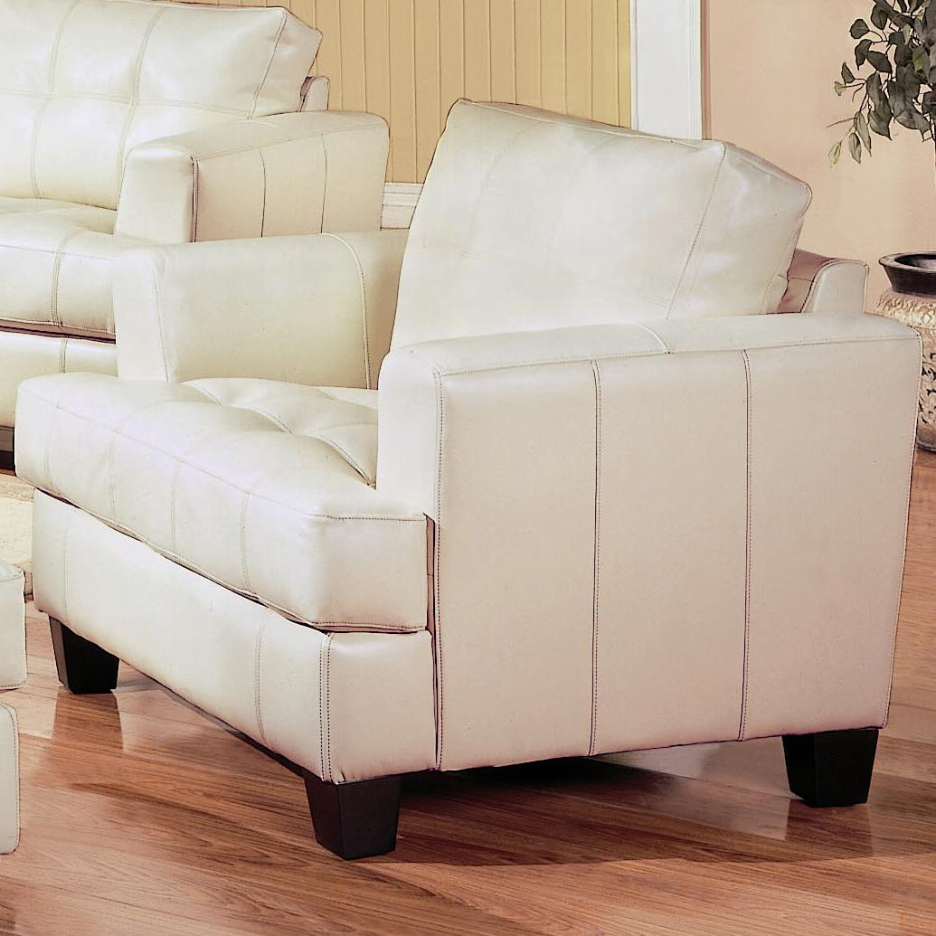 Coaster Samuel Contemporary Leather Chair Dream Home