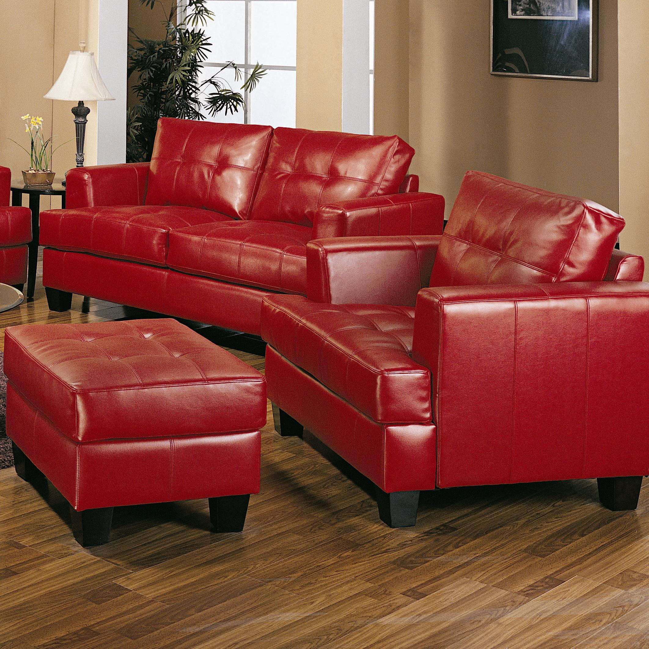 Coaster Samuel Contemporary Leather Chair And Tufted