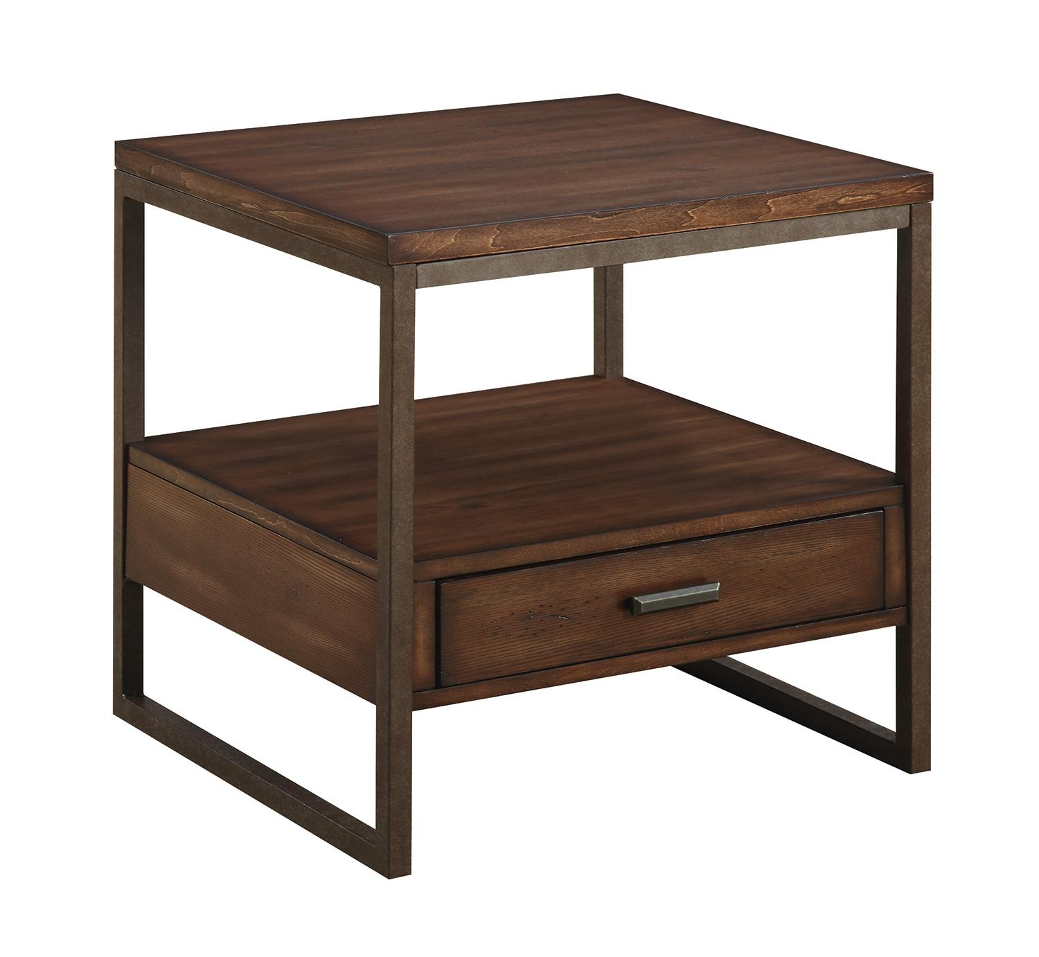 Coaster 70430 704307 Industrial End Table With One Drawer