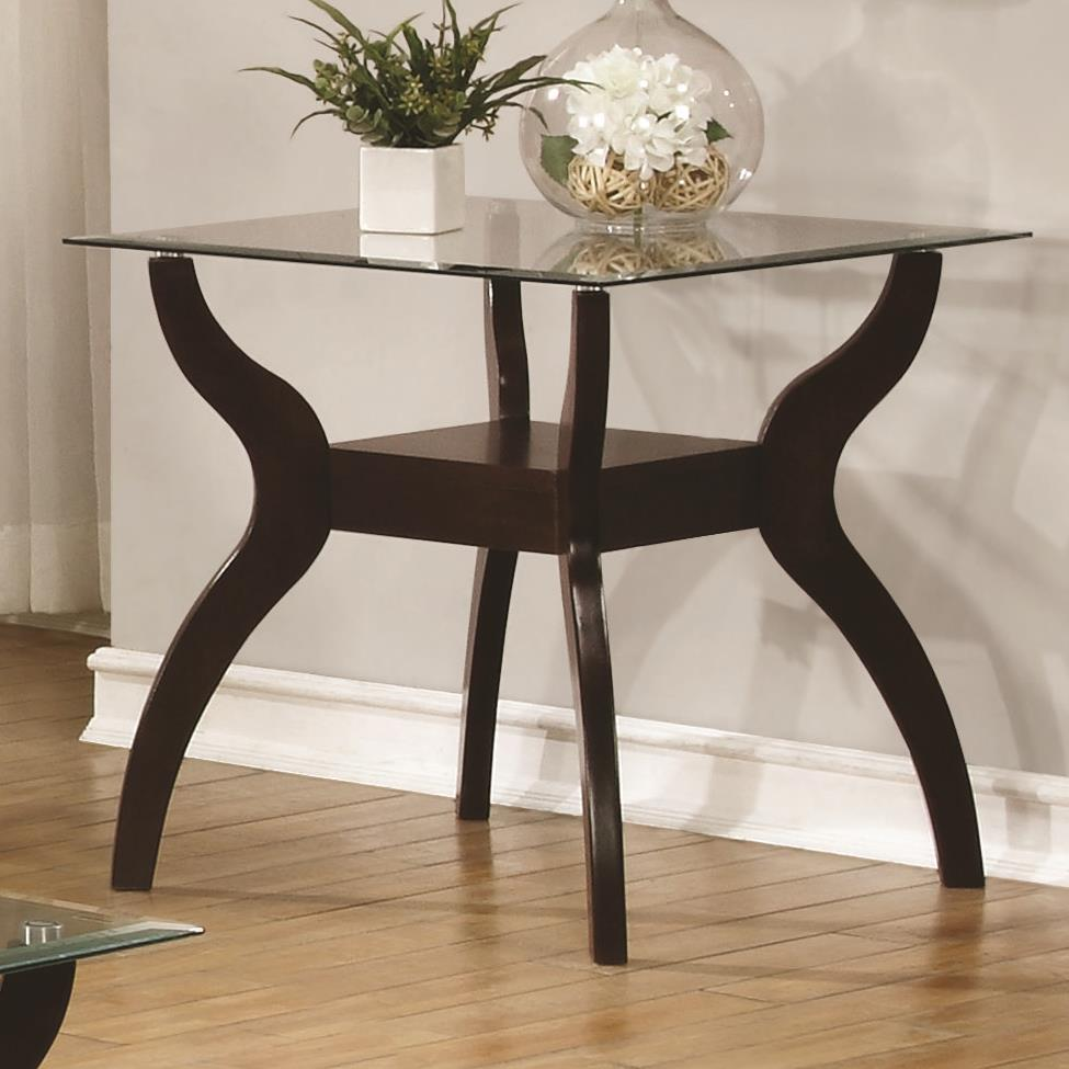 Coaster 70462 704627 mid century modern end table with for Mid century modern furniture hawaii