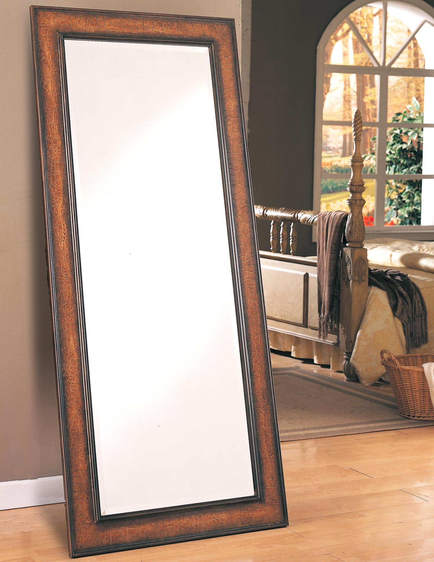 Coaster accent mirrors 8575 floor mirror northeast for Long standing mirror