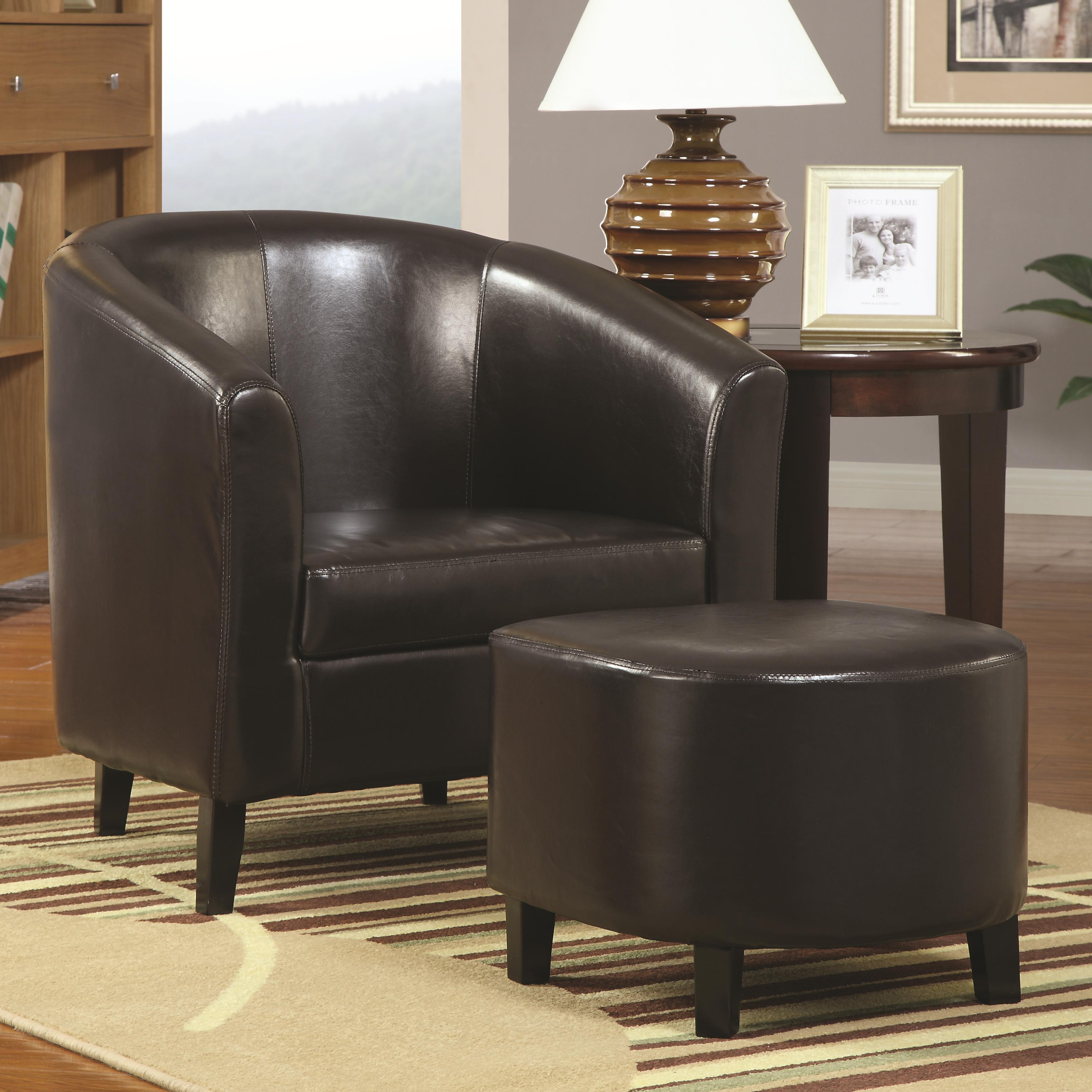 Coaster Accent Seating Accent Chair w Ottoman Value