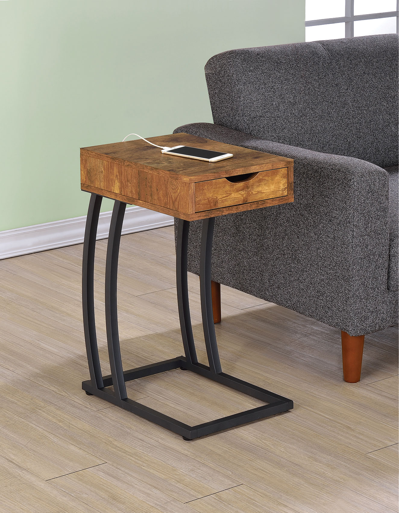 Coaster accent tables 900577 chairside table with storage for Bright colored side tables
