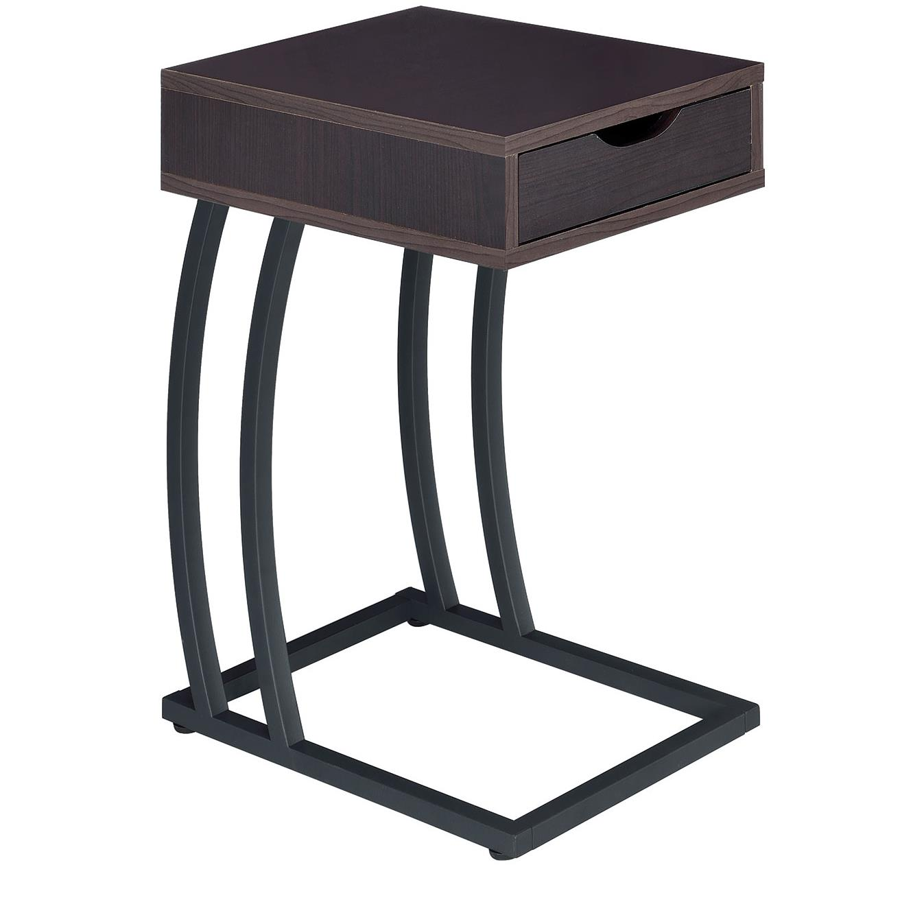 Coaster accent tables 900578 chairside table with storage for Bright colored side tables