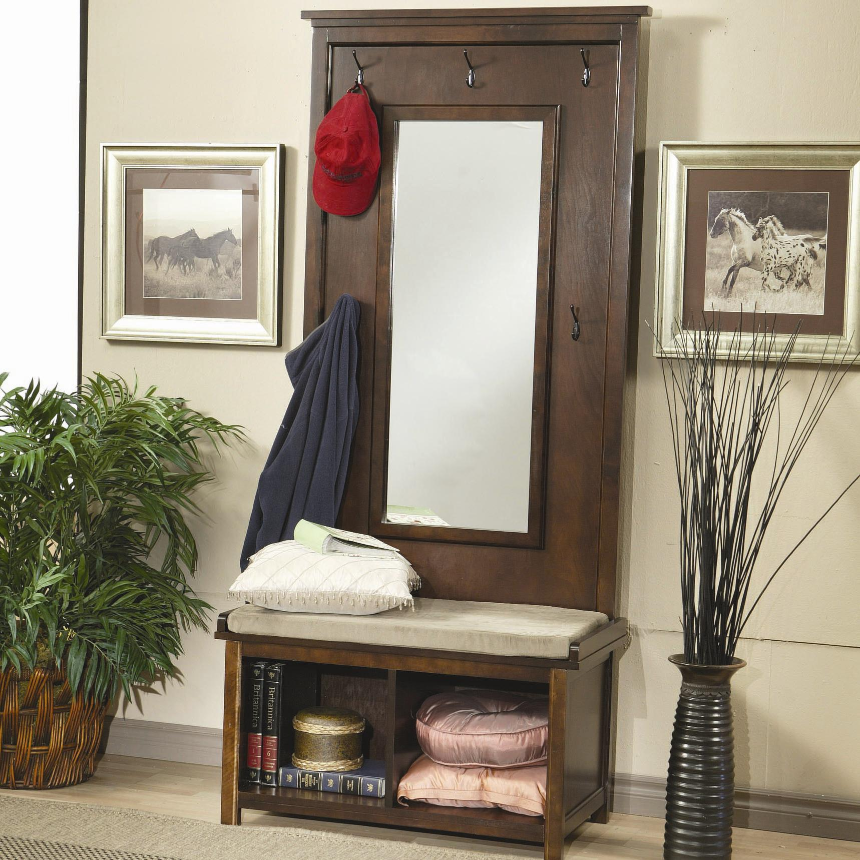 Coaster accents coat racks and hall trees hall tree and for Accent tree for corner of house