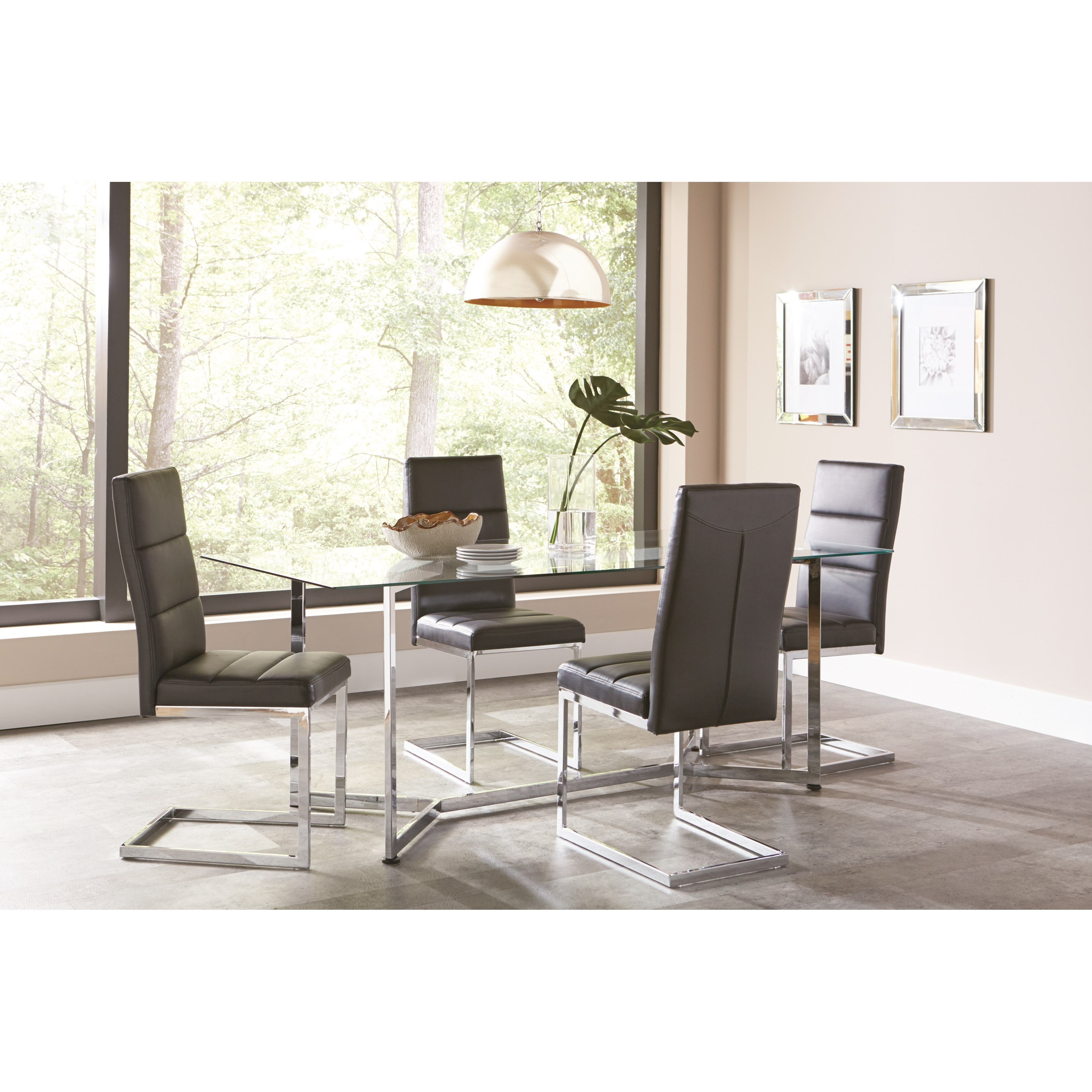 Coaster Augustin Contemporary Table And Chair Set Rife 39 S