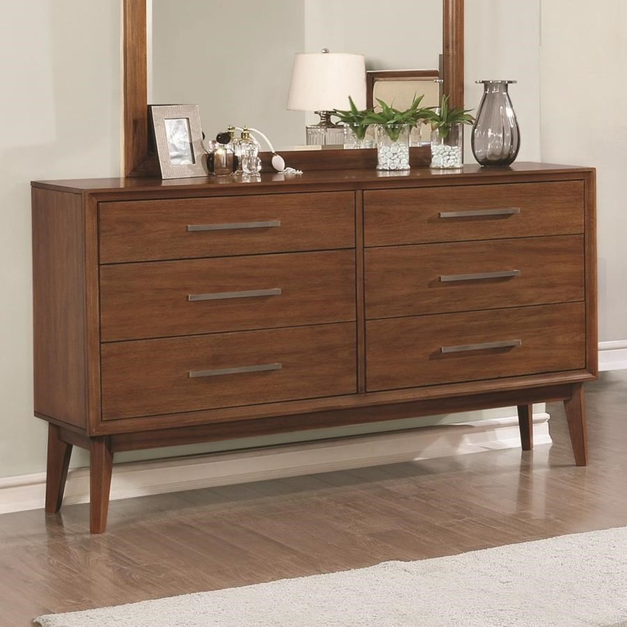 value city furniture dressers coaster banning mid century 6 drawer dresser value city 17690