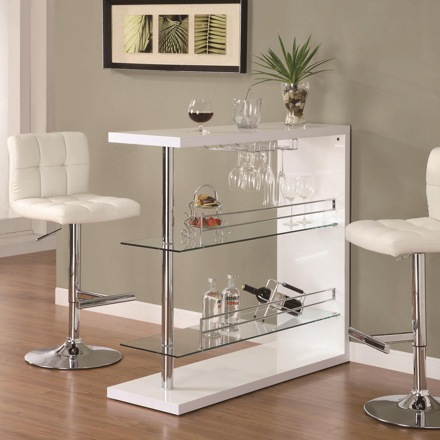 Coaster Bar Units and Bar Tables 15 Rectangular Bar Unit with ...