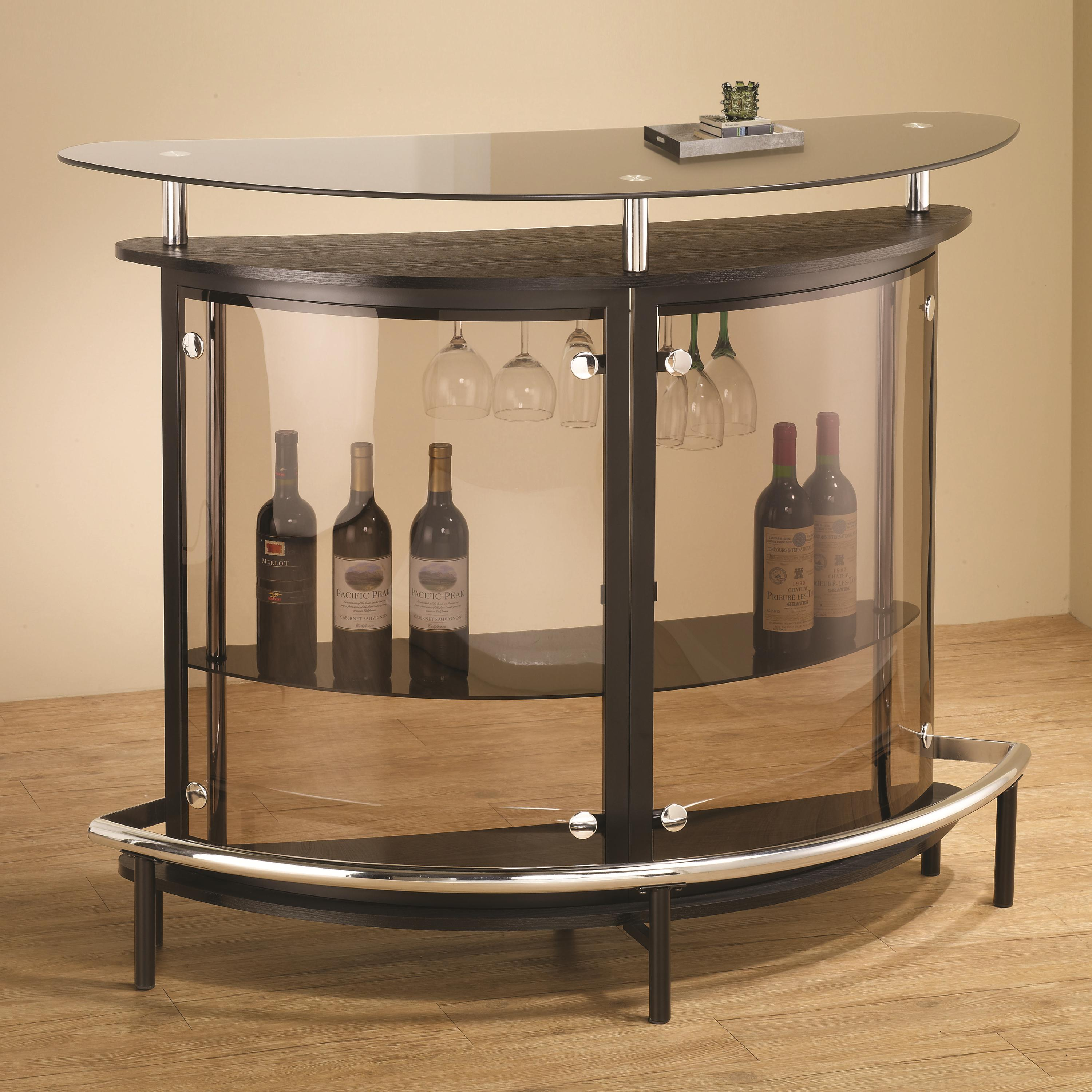 Coaster Bar Units And Bar Tables 101065 Contemporary Bar Unit With Smoked Acrylic Front Del