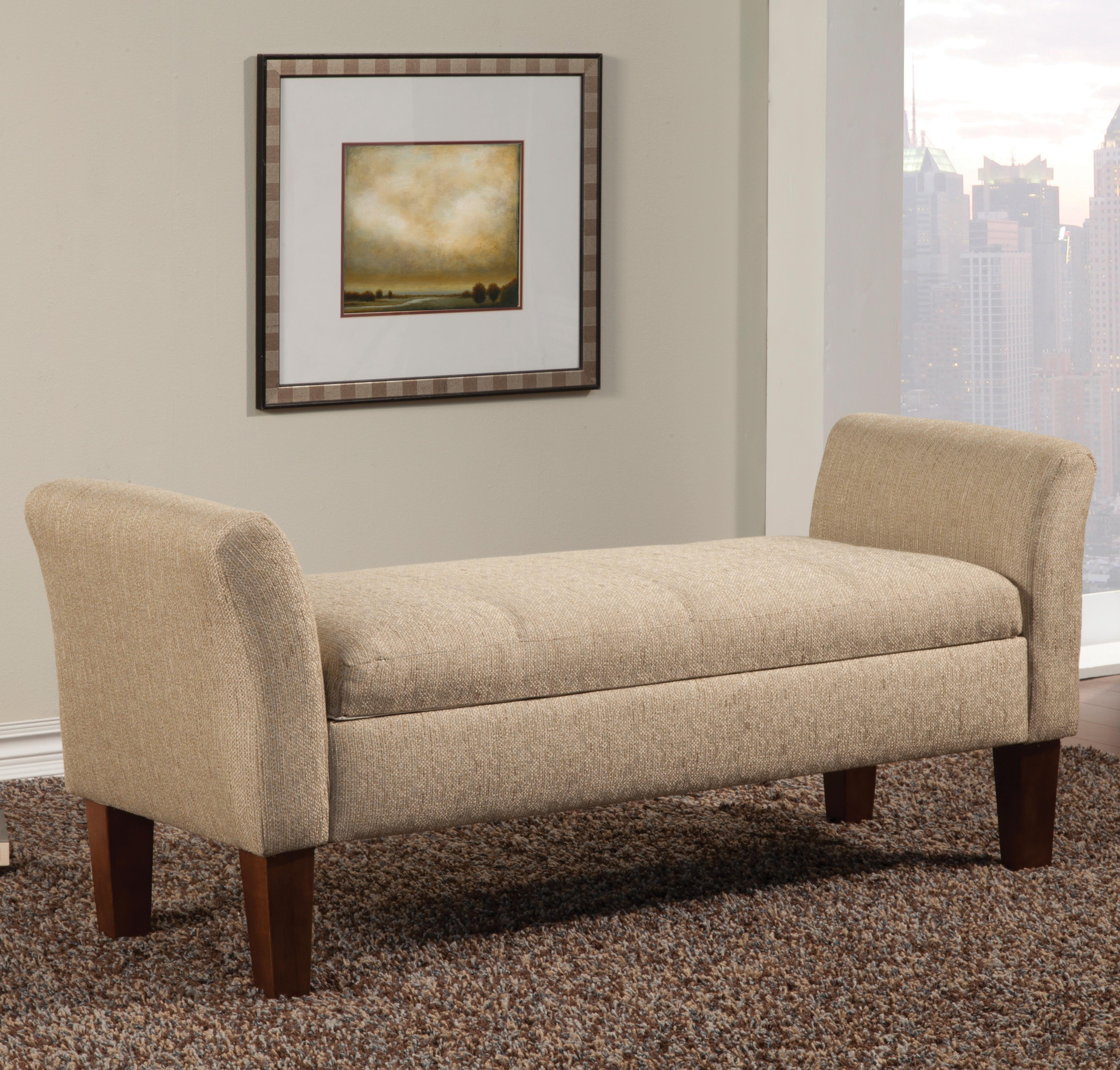 Coaster Benches Storage Bench in Tan Woven Fabric Knight Furniture & Ma