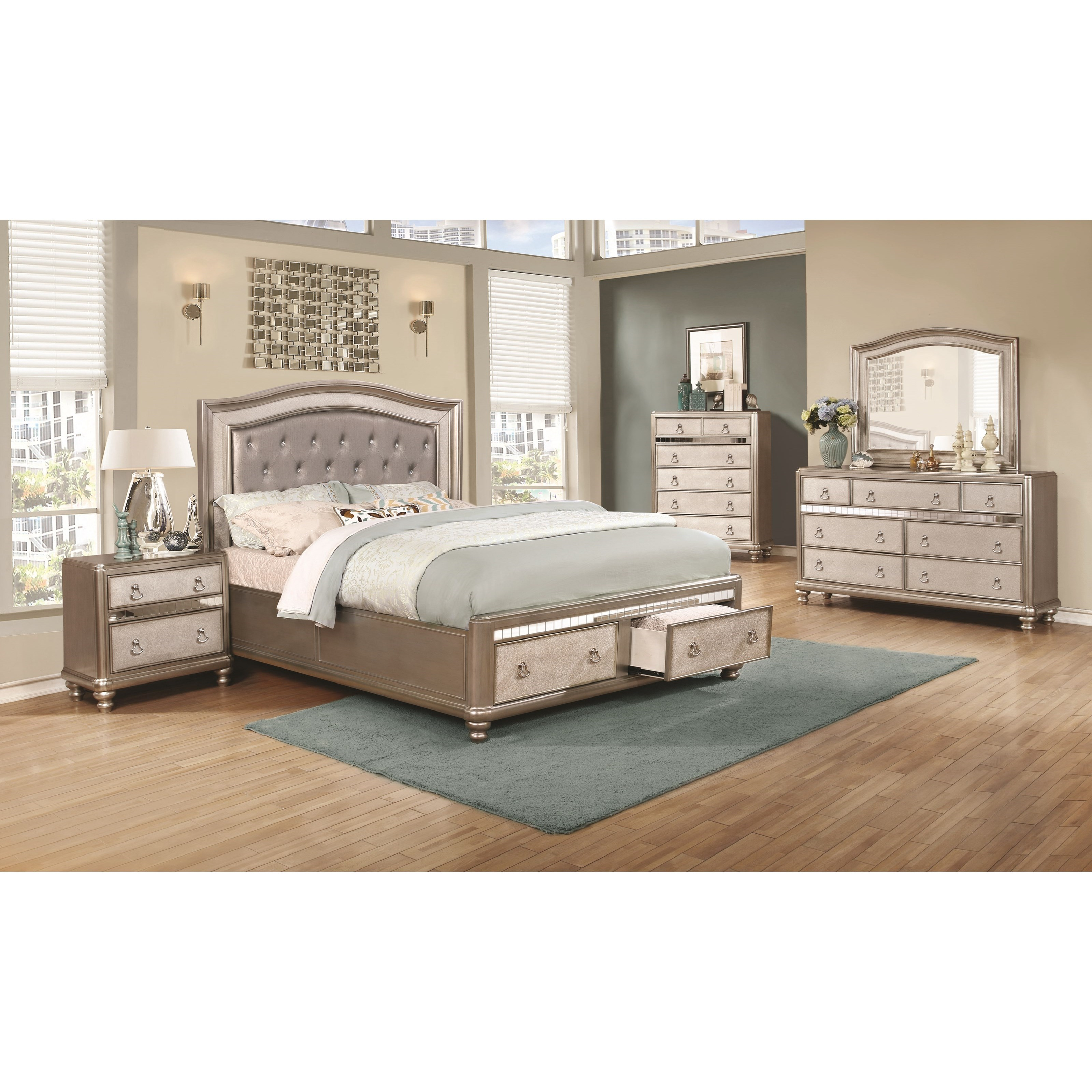 Coaster Bling Game Queen Bedroom Group With Storage Bed Miskelly Furniture Bedroom Groups