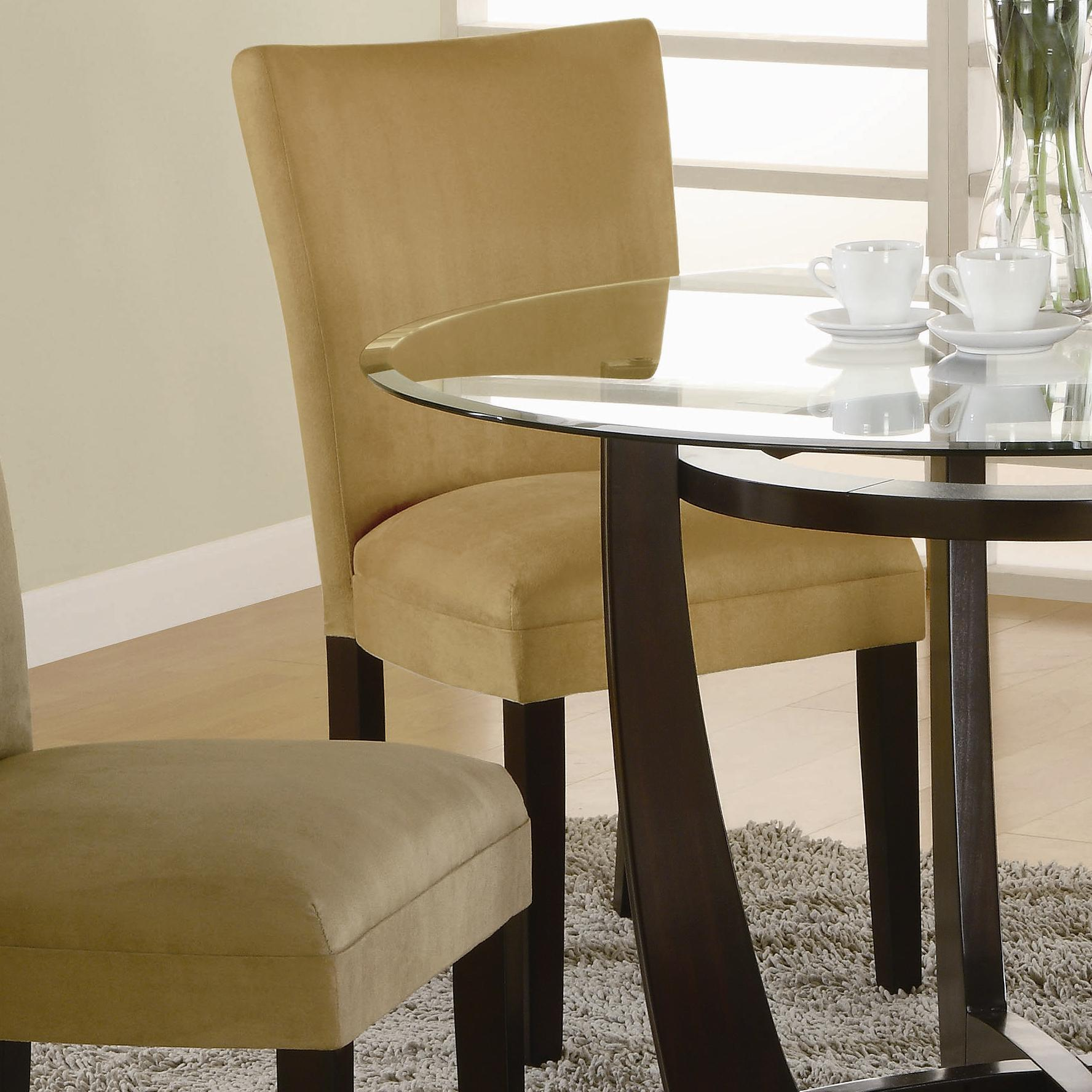 coaster bloomfield microfiber parson side chair value city furniture dining side chairs. Black Bedroom Furniture Sets. Home Design Ideas