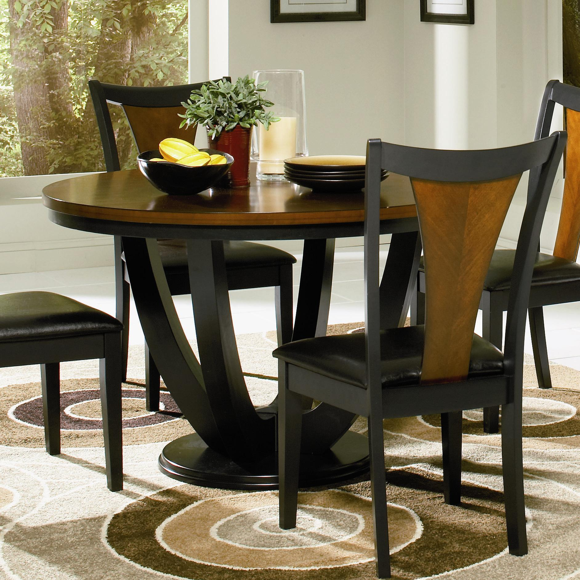 Coaster boyer round contemporary table dunk bright for Modern round kitchen table