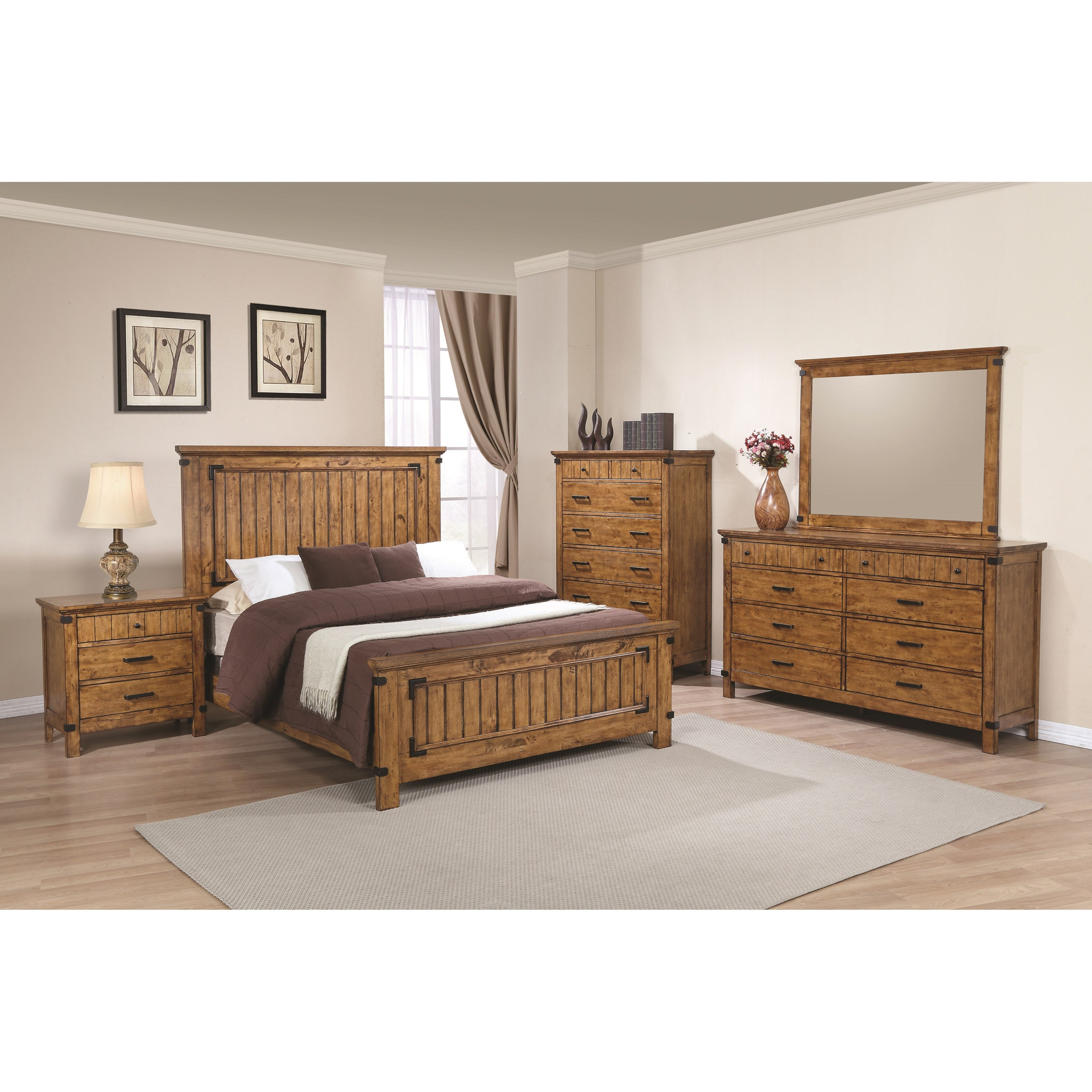 Coaster brenner california king bedroom group dunk for Bedroom furniture groups