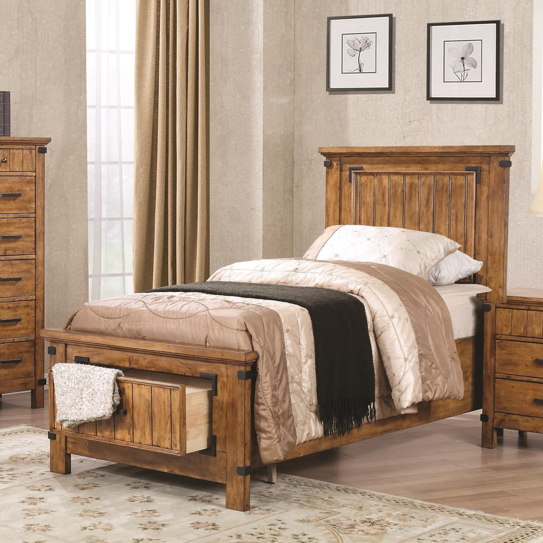 Coaster Brenner Twin Storage Bed With Dovetail Drawer