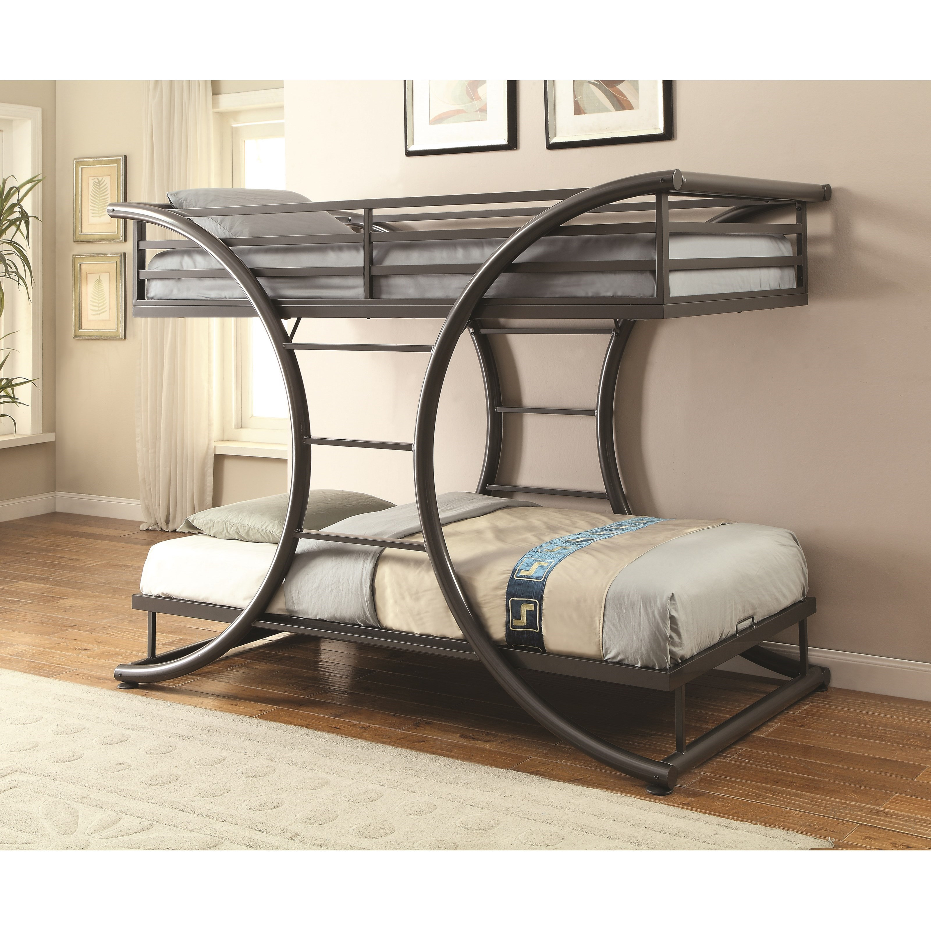 Coaster Bunks 461078 Twin Over Twin Contemporary Bunk Bed