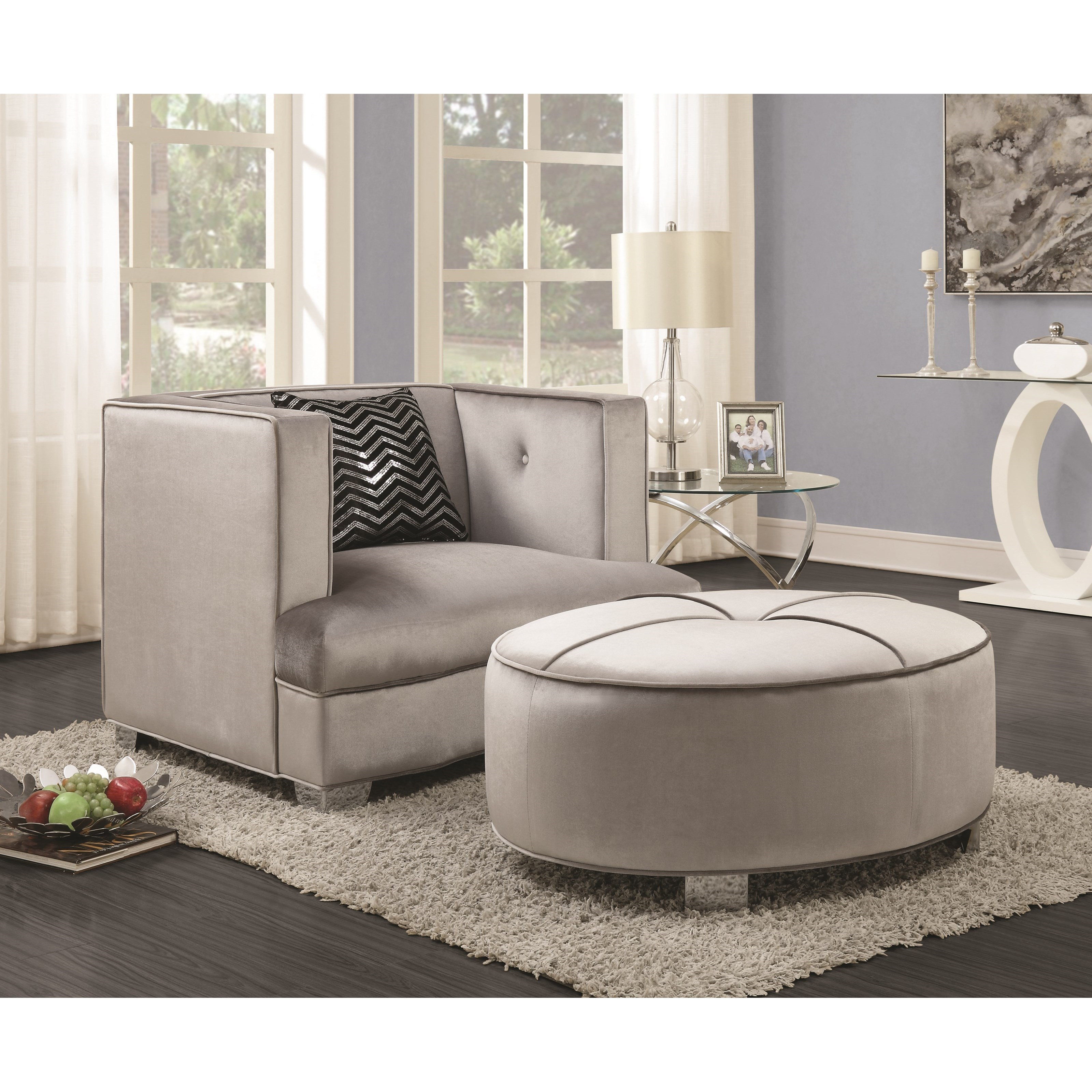 coaster caldwell 505884 glamorous ottoman del sol furniture ottomans. Black Bedroom Furniture Sets. Home Design Ideas