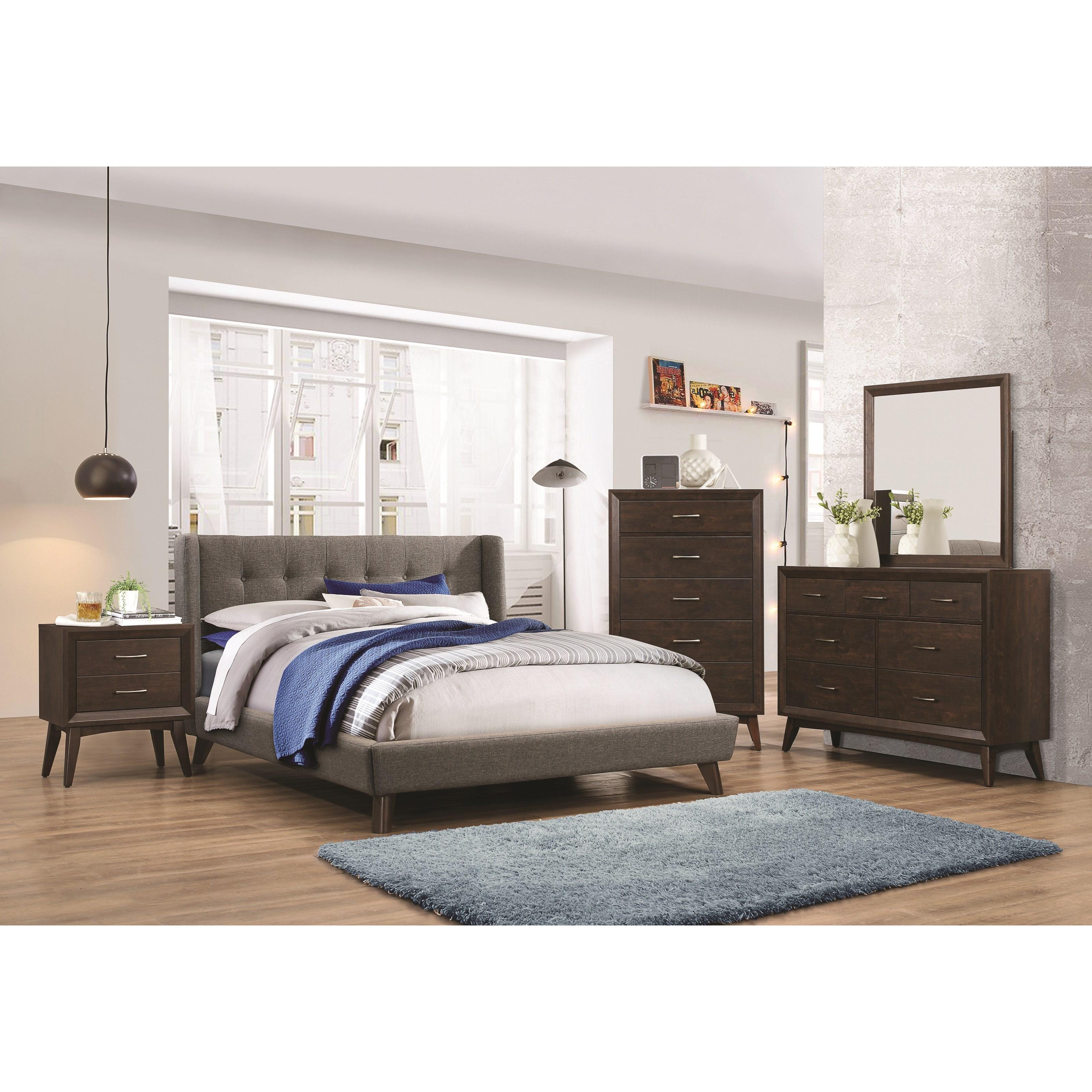 Coaster carrington queen bedroom group beck 39 s furniture for Bedroom groups