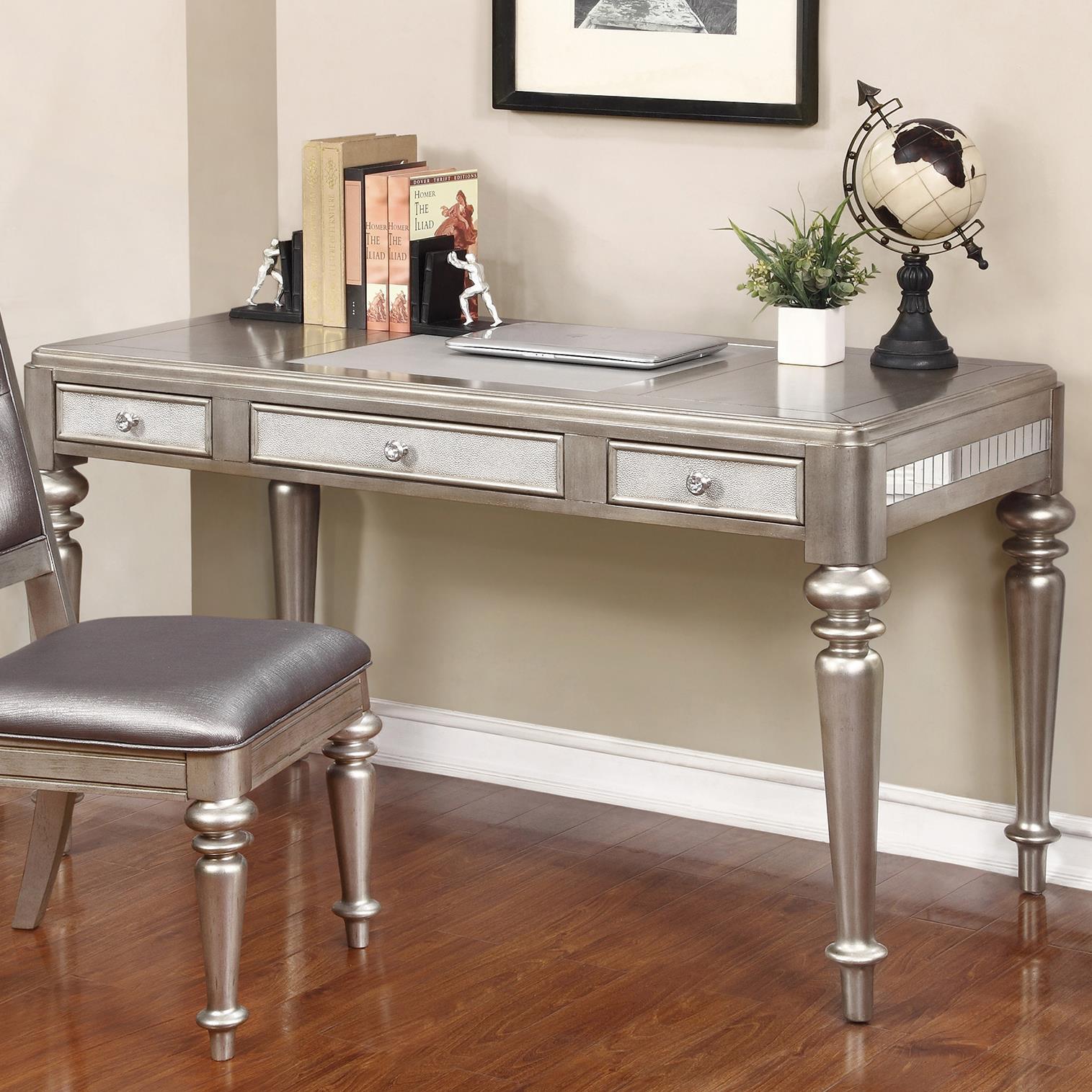 coaster 804187 writing desk with leatherette drawer fronts del sol furniture table desks. Black Bedroom Furniture Sets. Home Design Ideas