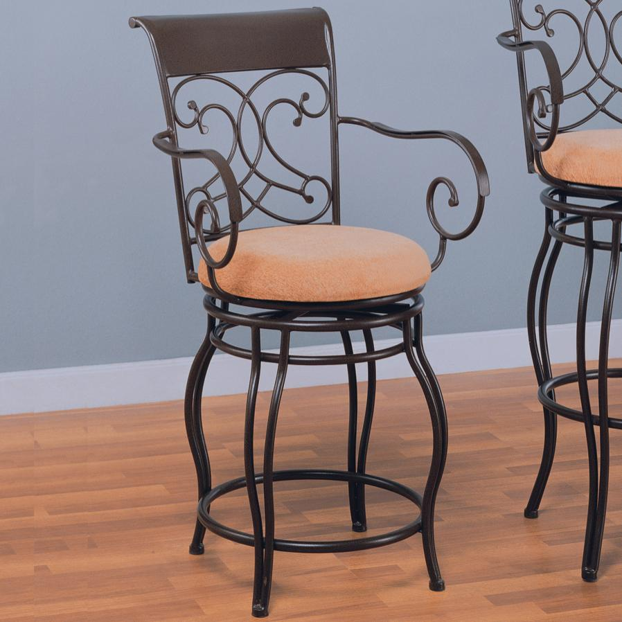 coaster dining chairs and bar stools 120020 24 metal bar stool with upholstered seat del sol. Black Bedroom Furniture Sets. Home Design Ideas