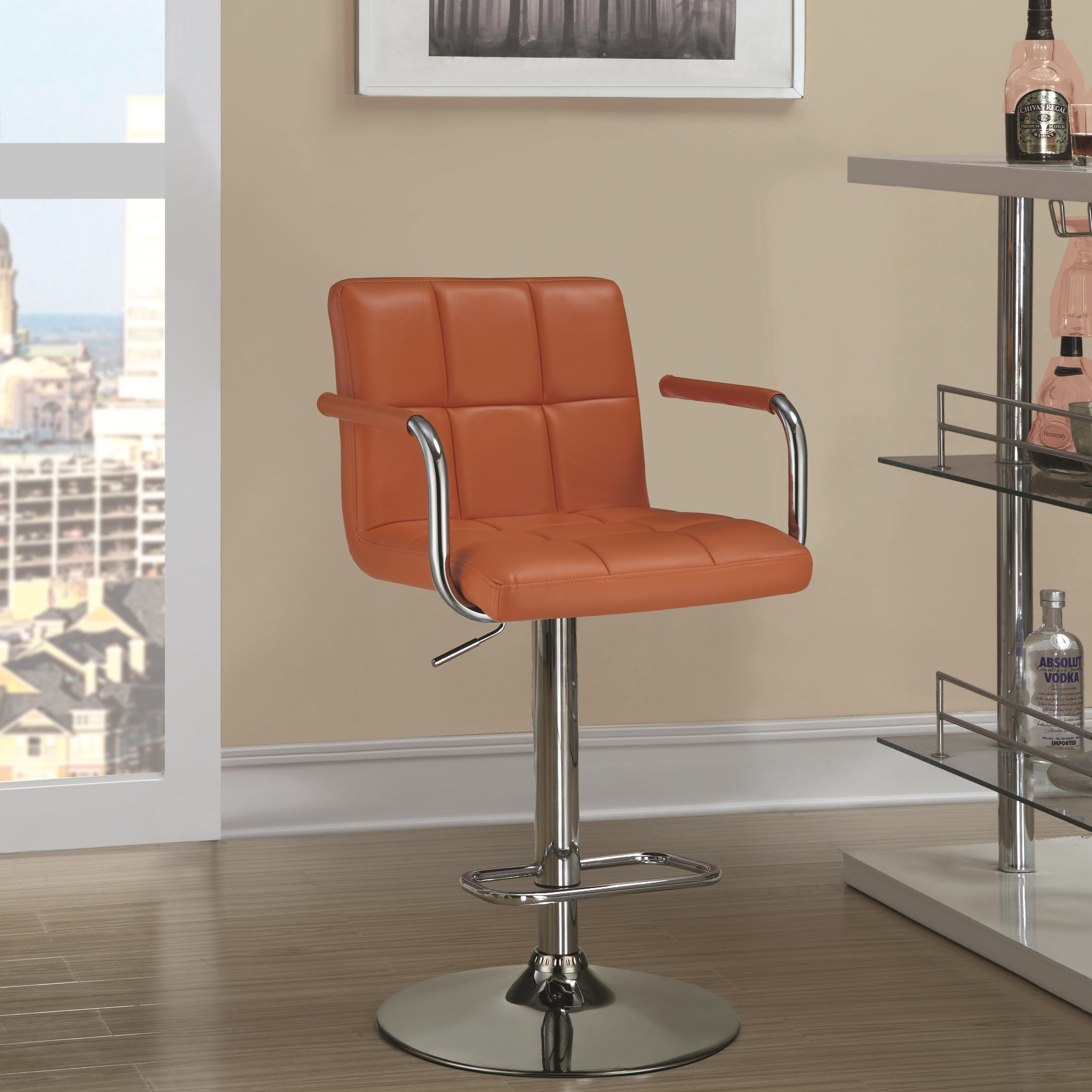 Coaster dining chairs and bar stools adjustable bar stool - Bright colored bar stools ...