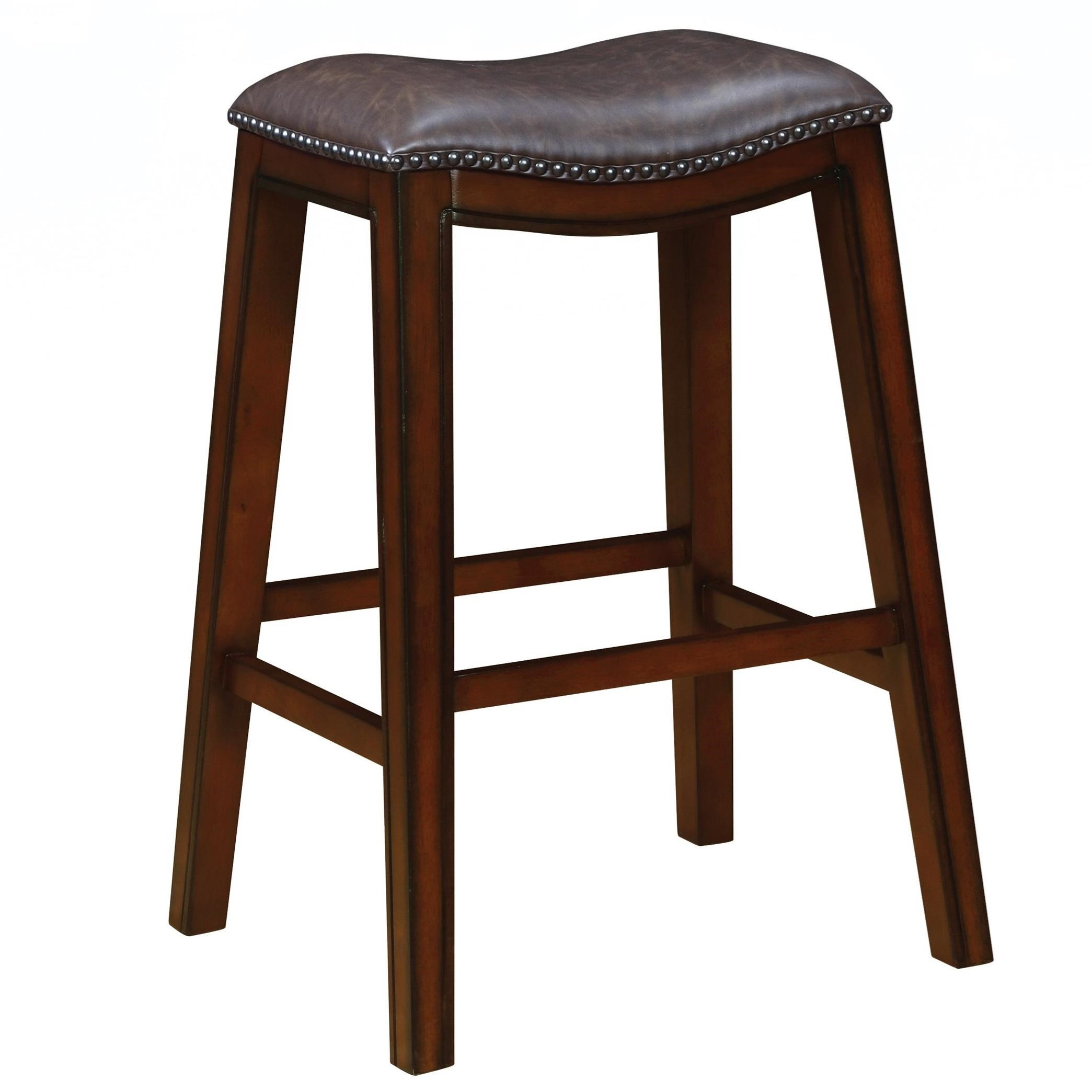 Coaster dining chairs and bar stools upholstered backless for Dining stools