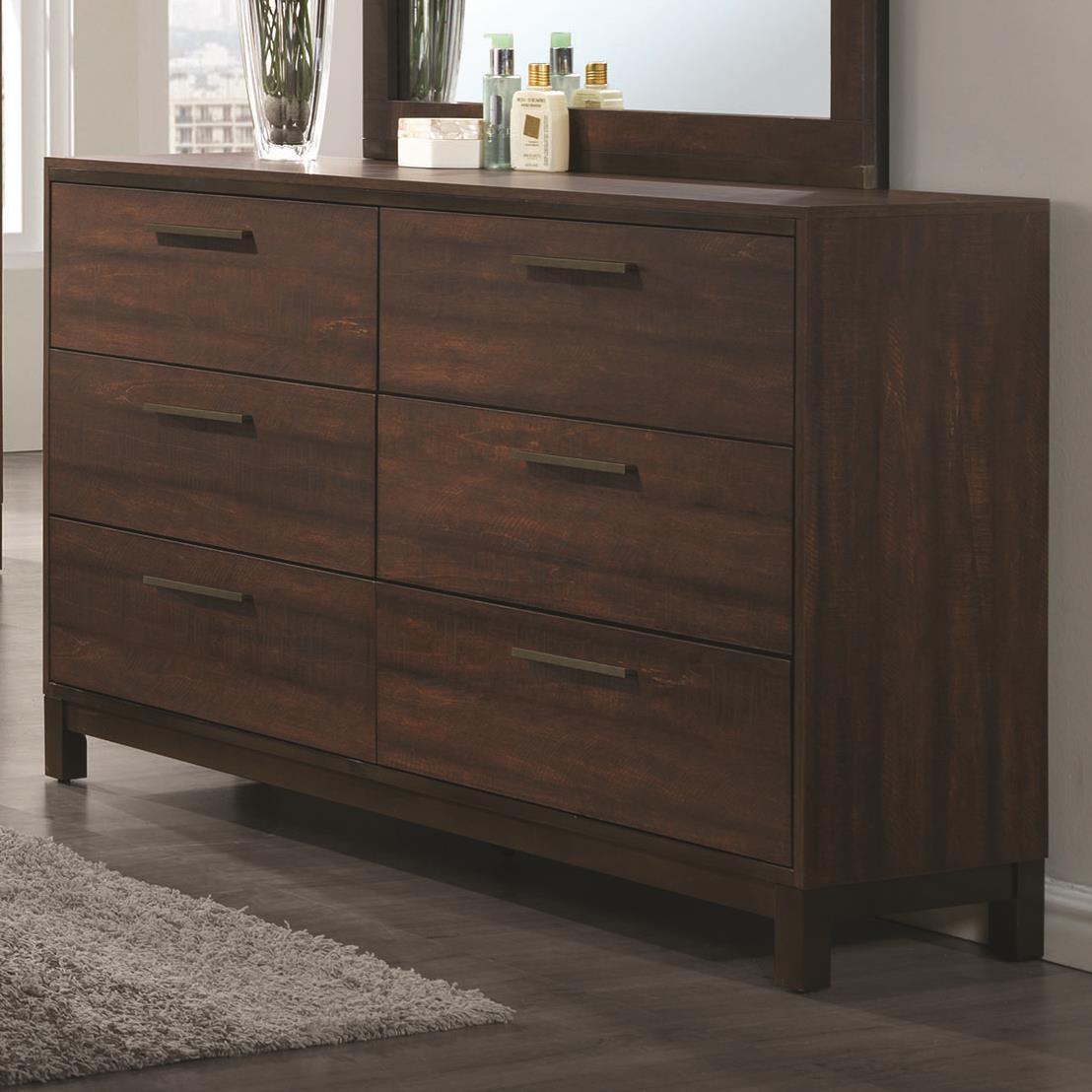 Coaster edmonton 204353 dresser with six dovetail drawers for Bedroom furniture edmonton