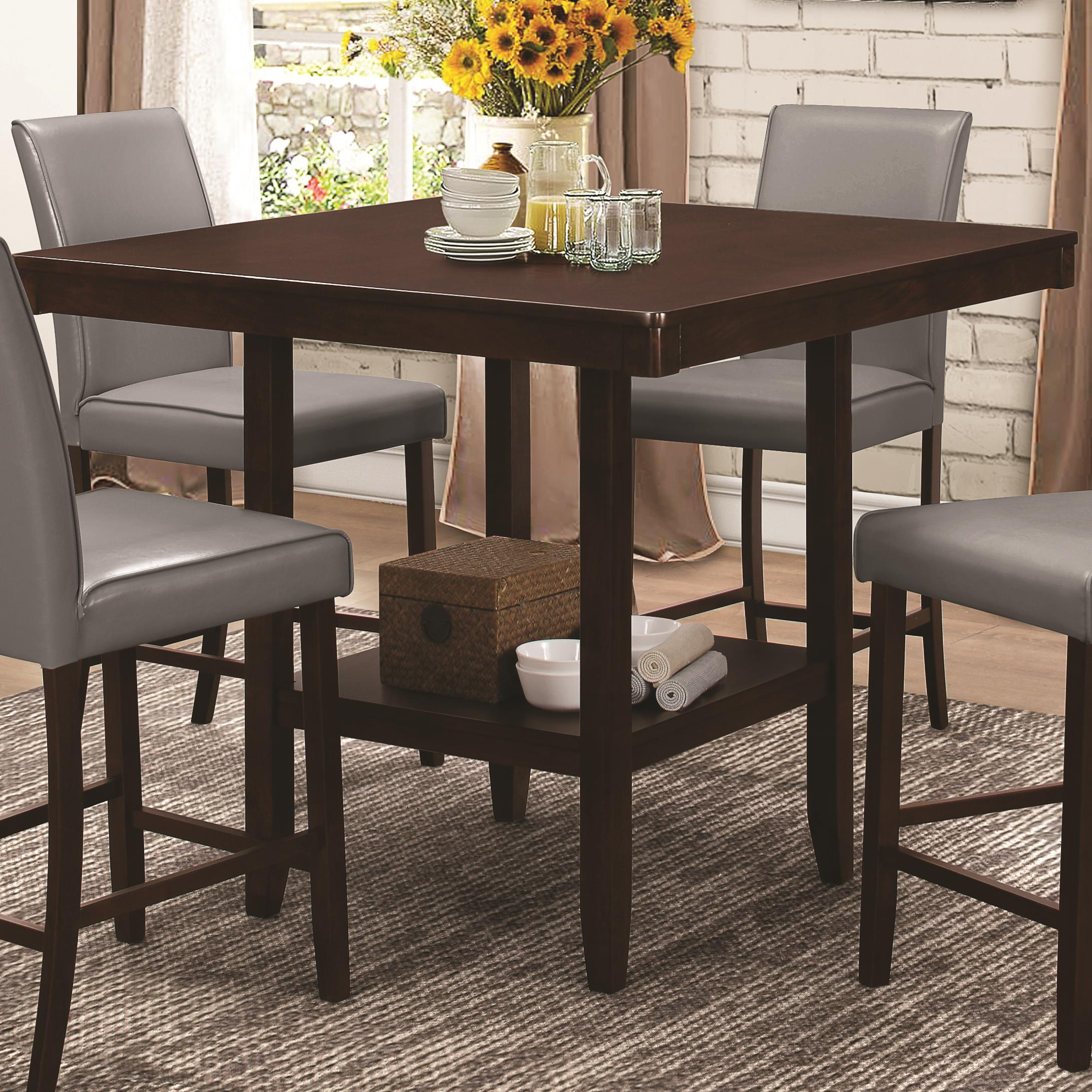 Counter Height Legs : Coaster Fattori Square Counter Height Table with Legs - Dunk & Bright ...
