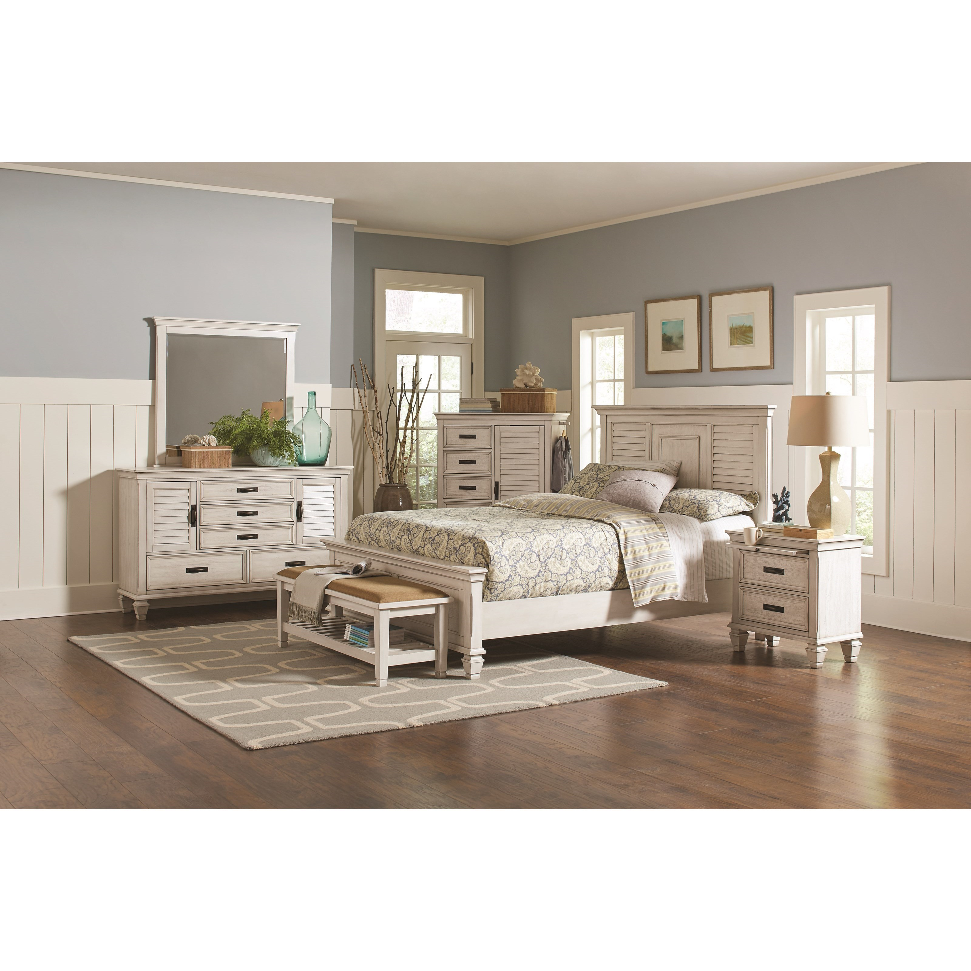 Coaster franco queen bedroom group value city furniture for Bedroom groups