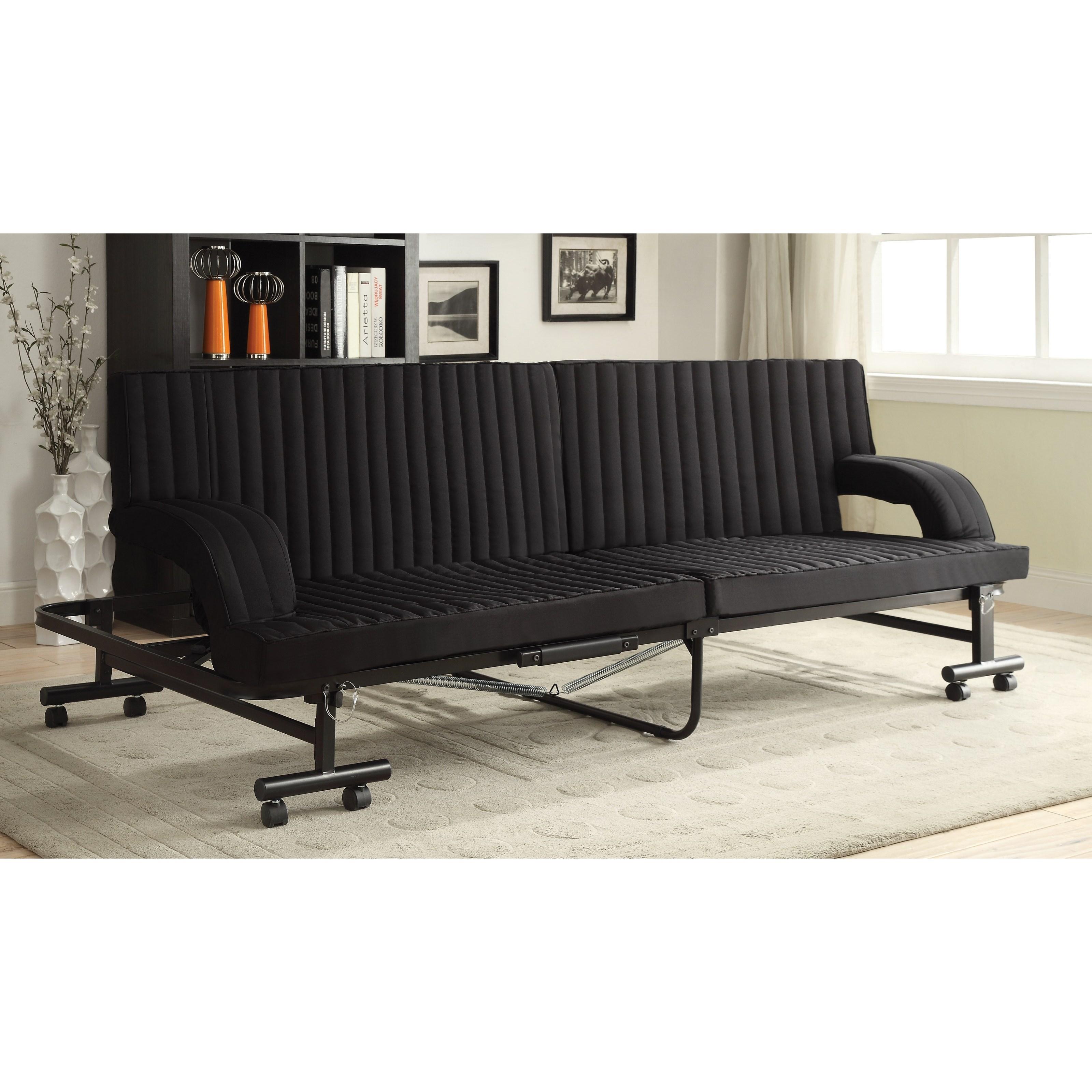 coaster futons 300586 black sofa bed northeast factory. Black Bedroom Furniture Sets. Home Design Ideas