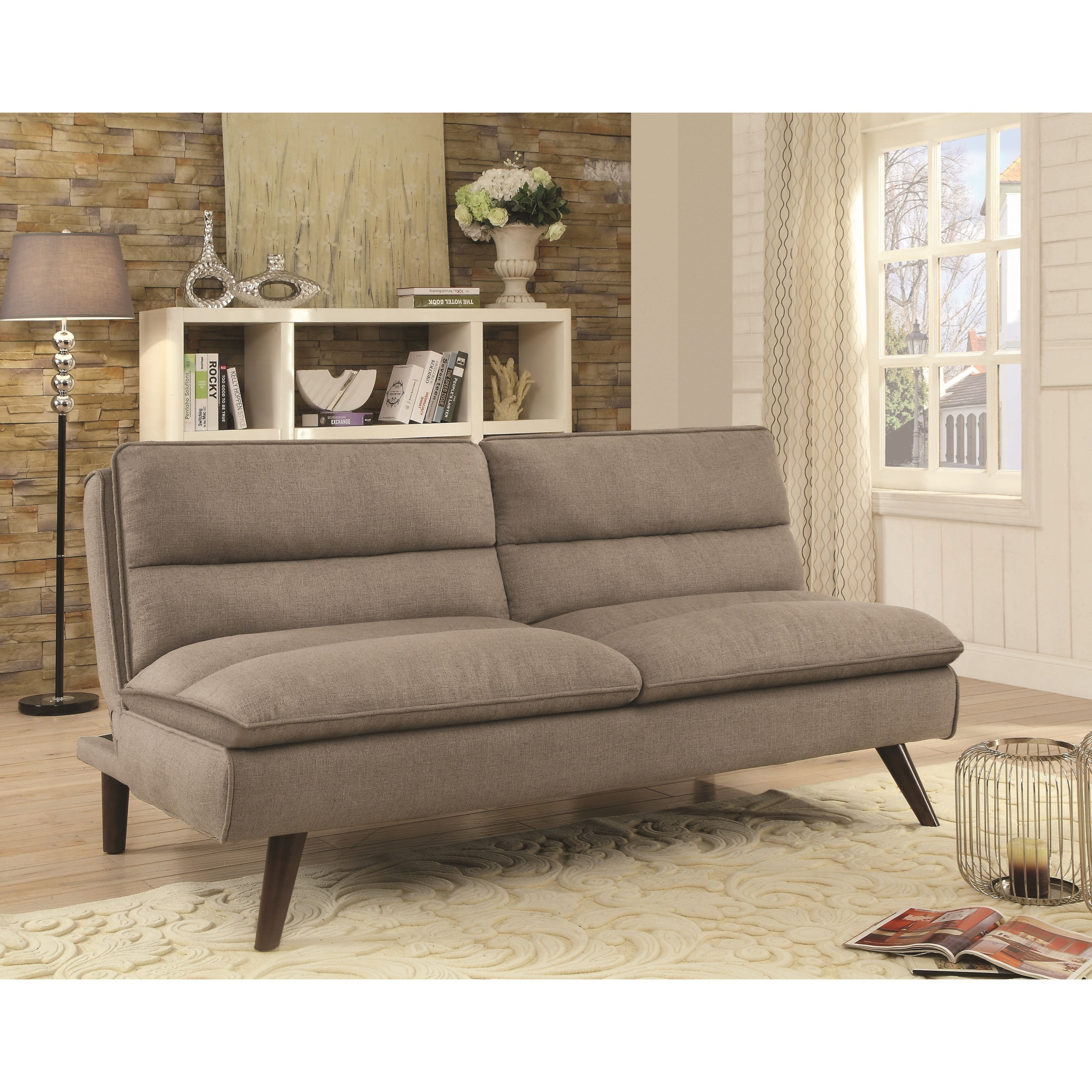 coaster futons 500320 sofa bed with twill fabric dunk. Black Bedroom Furniture Sets. Home Design Ideas