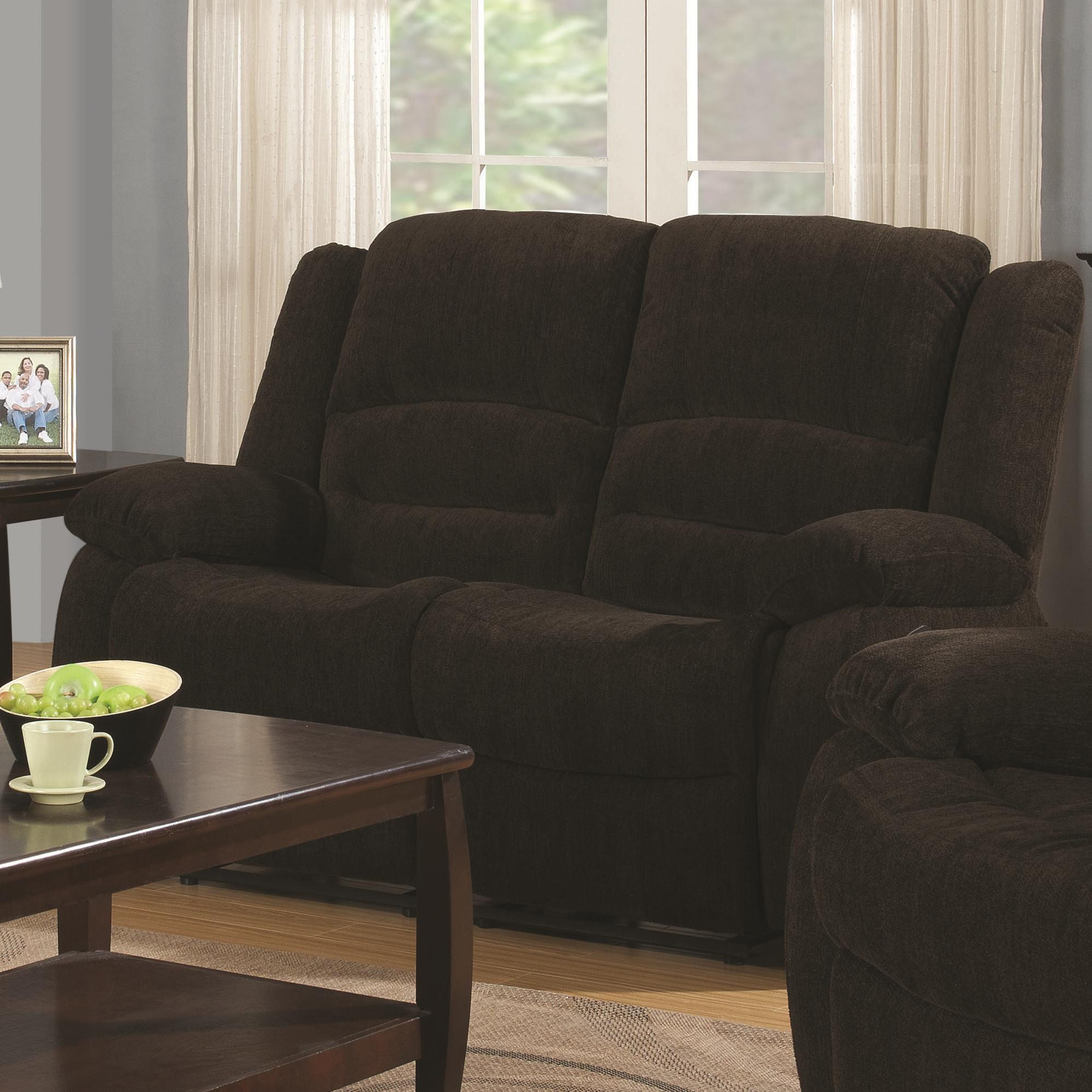 Coaster Gordon Casual Reclining Love Seat Rife 39 S Home