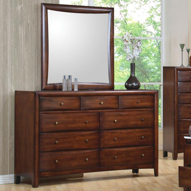 Coaster Hillary And Scottsdale Contemporary 9 Drawer Dresser And Mirror Del Sol Furniture
