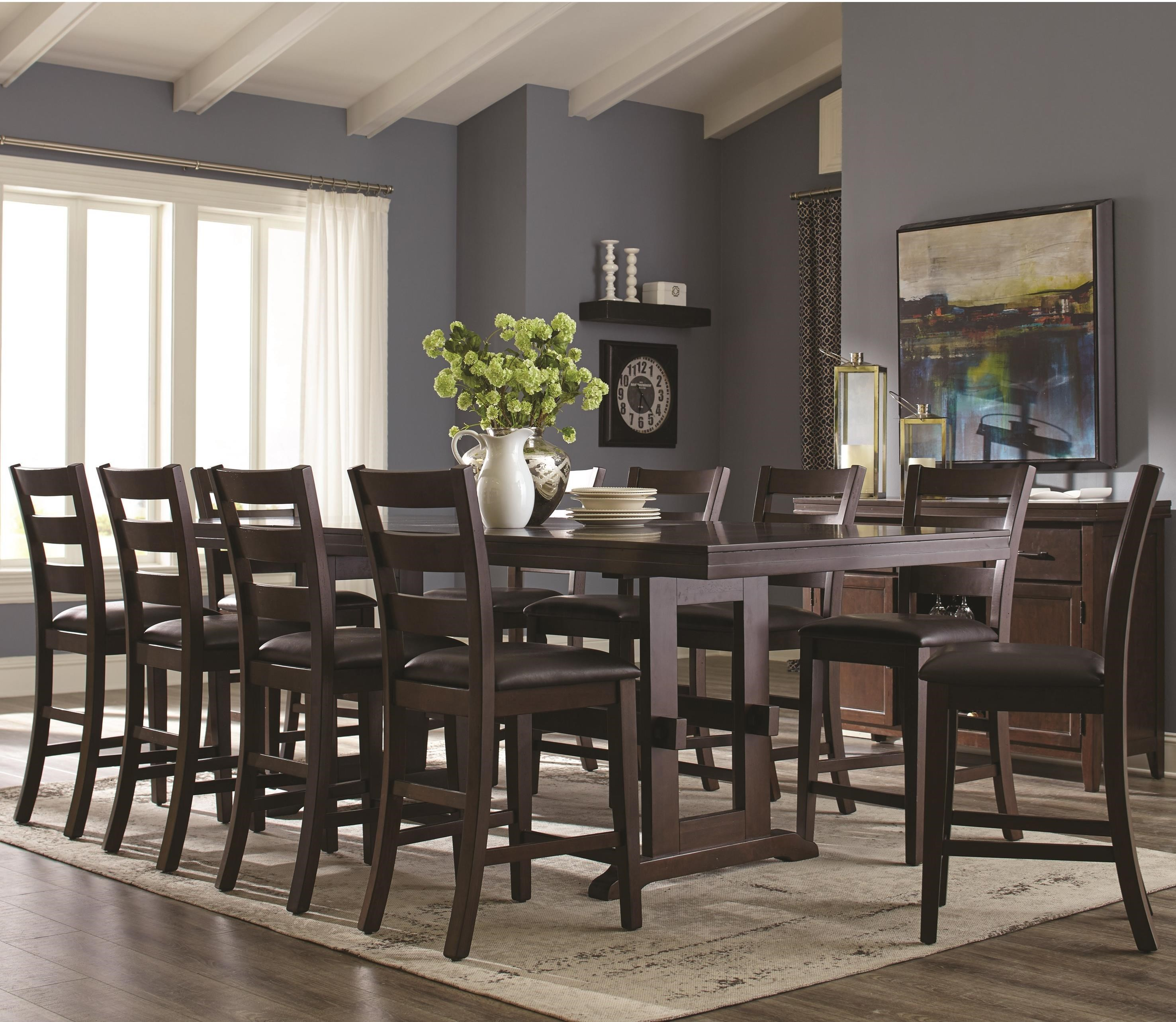 Coaster holbrook 11 piece counter height table and ladder for 11 piece dining table set