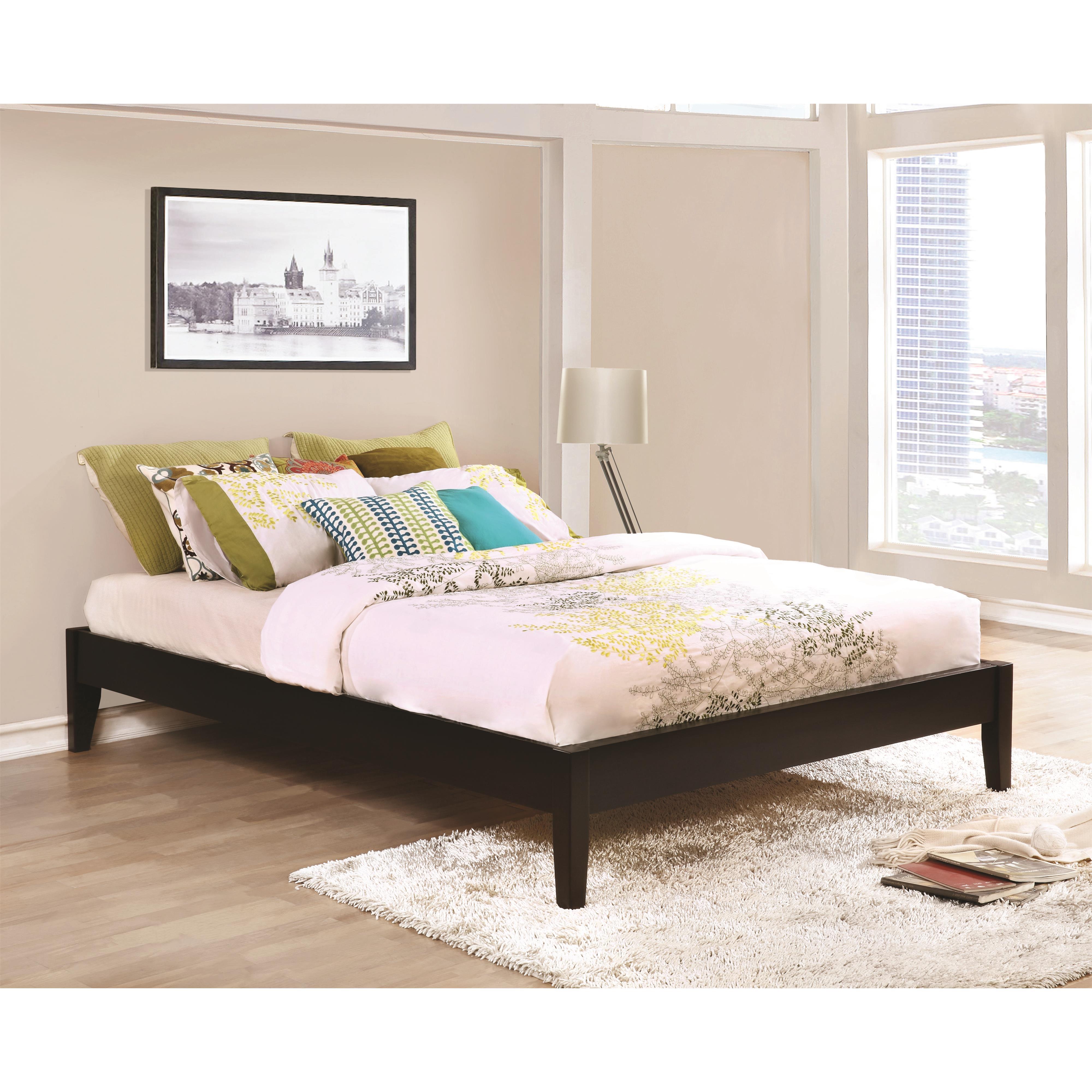 queen platform bed in cappuccino finish del sol furniture platform