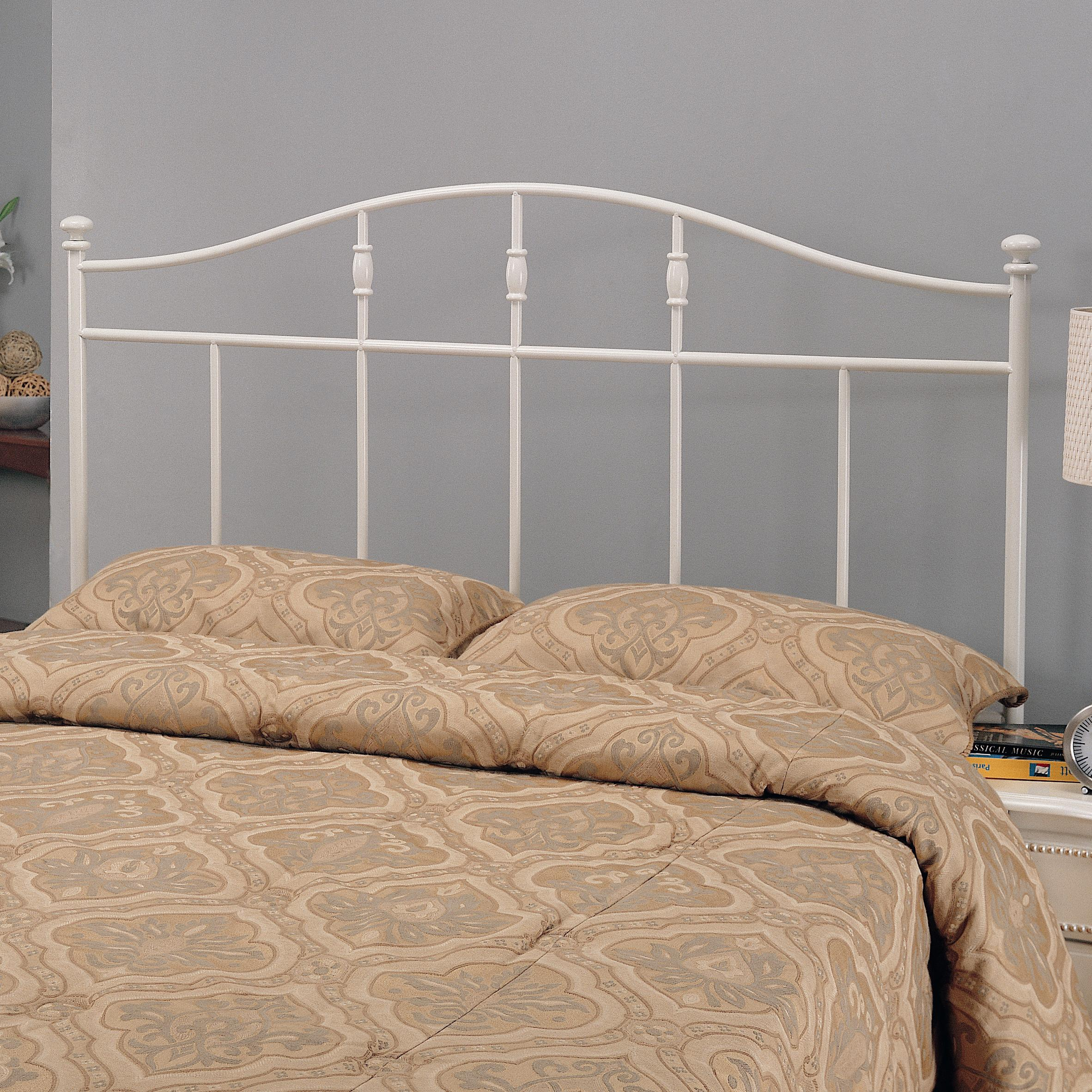 coaster iron beds and headboards 300183qf full queen cottage white metal headboard del sol. Black Bedroom Furniture Sets. Home Design Ideas