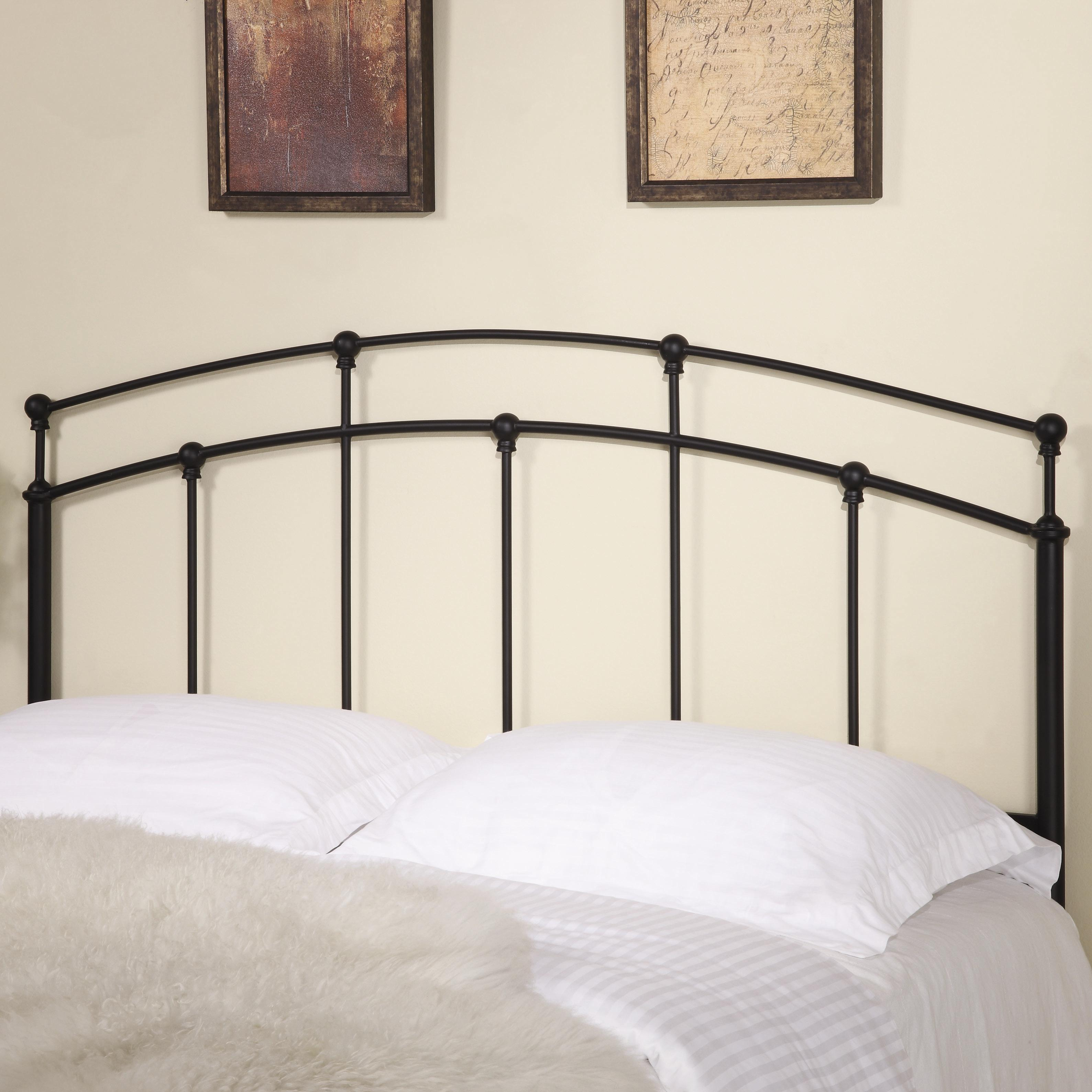Coaster iron beds and headboards 300190qf full queen black for Iron bedroom furniture