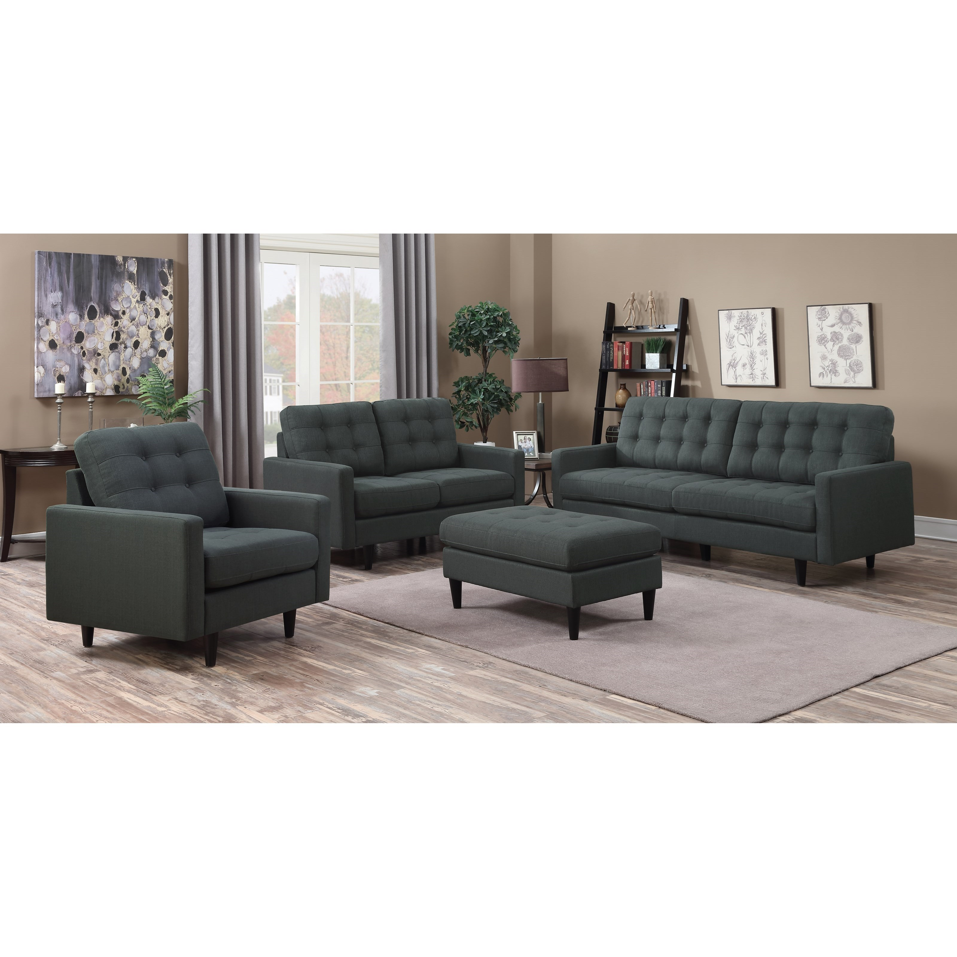 Coaster kesson stationary living room group beck 39 s for Living room furniture groups